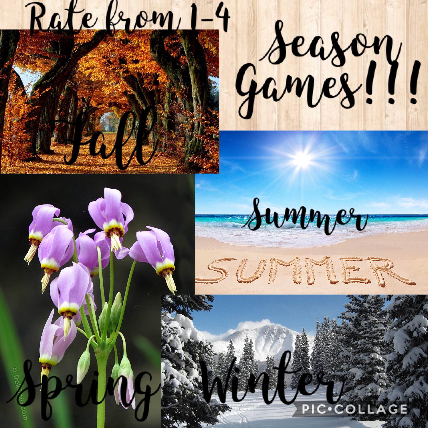 Season games! Please join!!