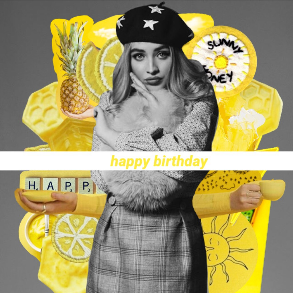 💛PART 2💛 HAPPY BIRTHDAY QUEEN SABRINA AHHH YOU ARE FINALLY LIKE 9 whoops 19 YEARS OLD WHAT?? TYSM FOR BEING SUCH AN INSPIRATION AND FOR MAKING SUCH INCREDIBLE MUSIC ILYSMMMMMM hope y'all like this!! 💛xoxo, claireeee💛