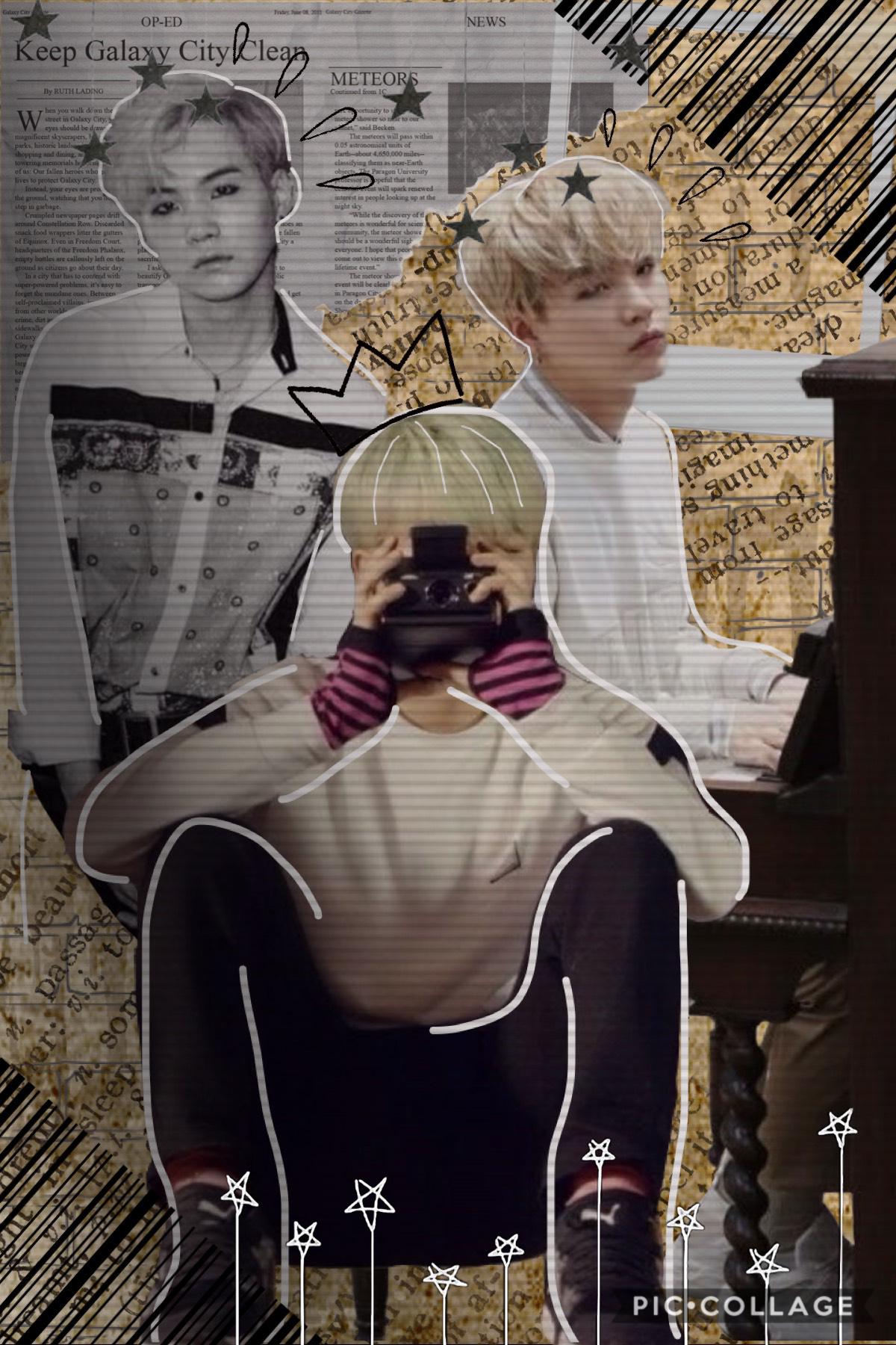 📷 tap 📷   collage 4/5    vintage Yoongi    hope you like it!