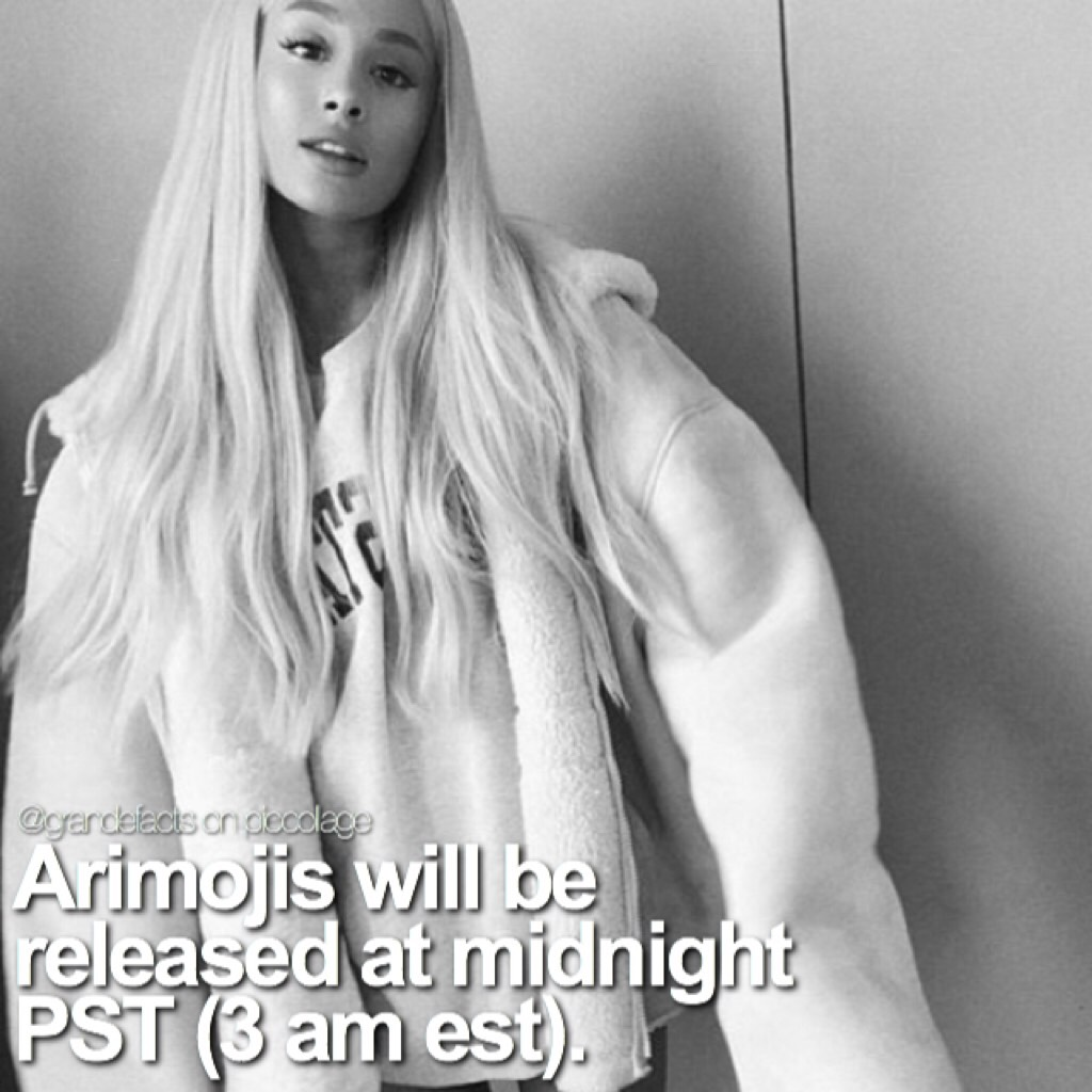 is anyone else staying up until midnight just for Arimojis??🙋🏼🙋🏼 I cannot wait omgg qotd: are you going to get Arimojis?   aotd: yes obviously, I'm so excited for them!😭