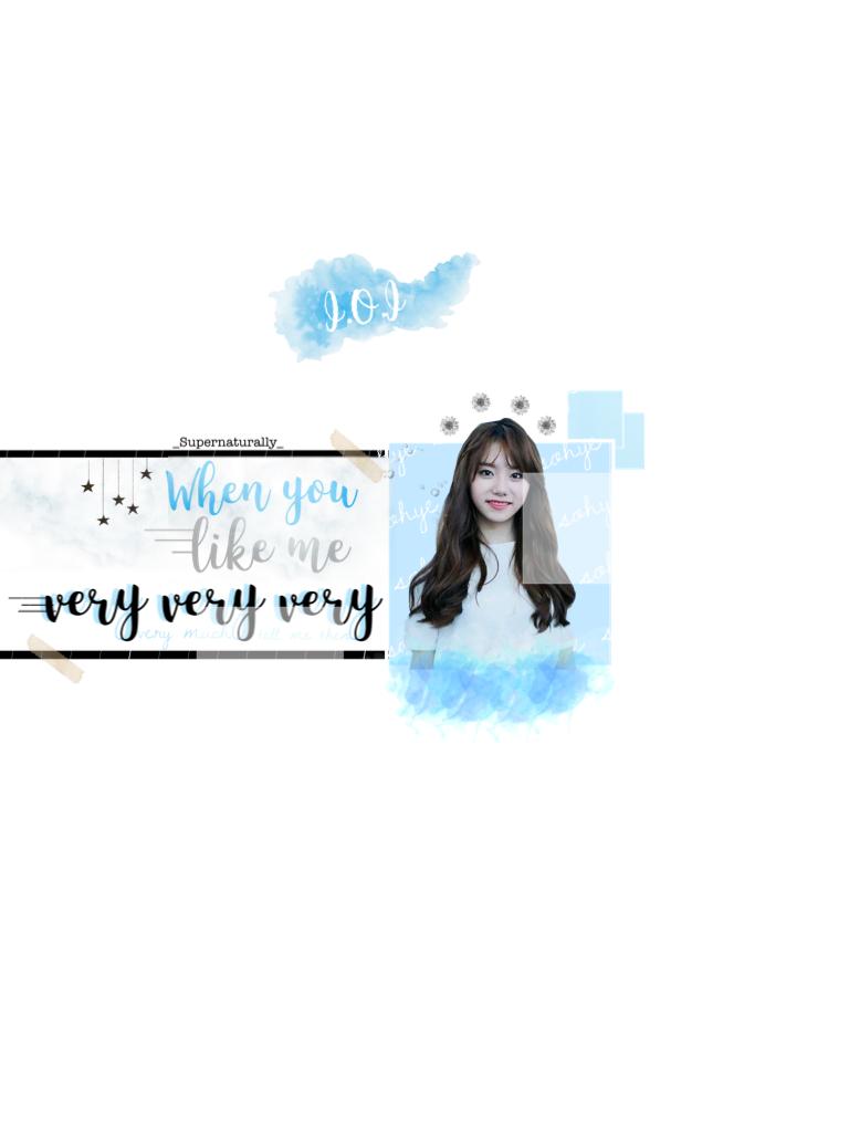 I.O.I - Sohye  Pastel blue theme. Meh💕