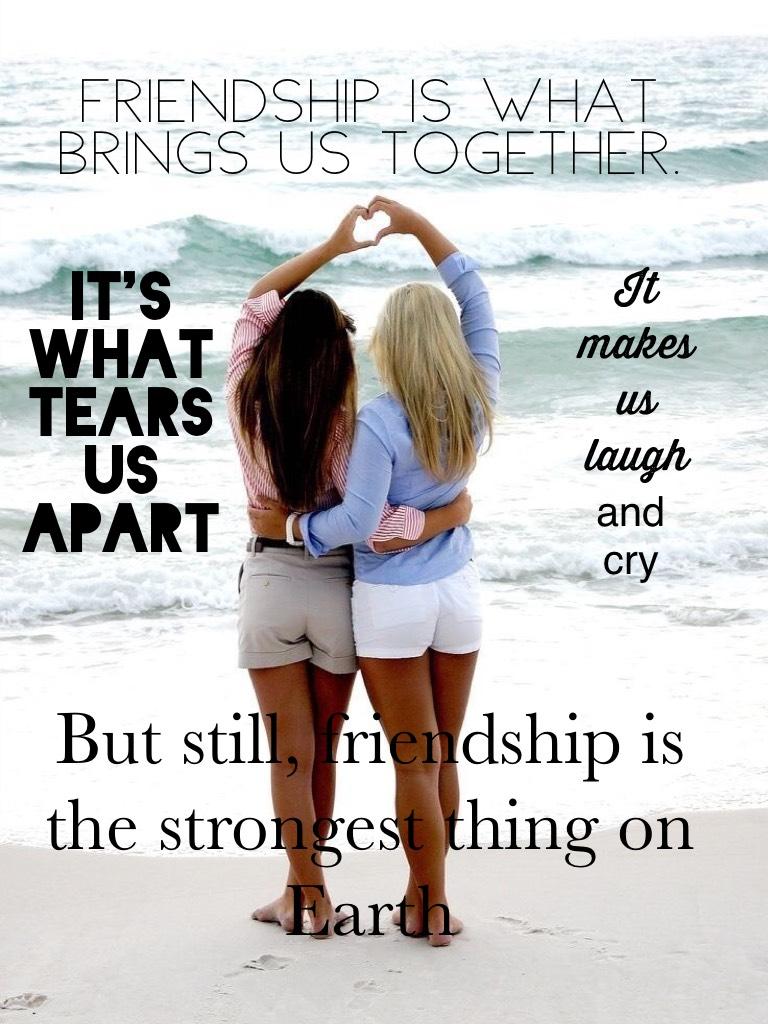Go friendship!! 👯(Ik it sounds cheesy, just go w/ it😊)