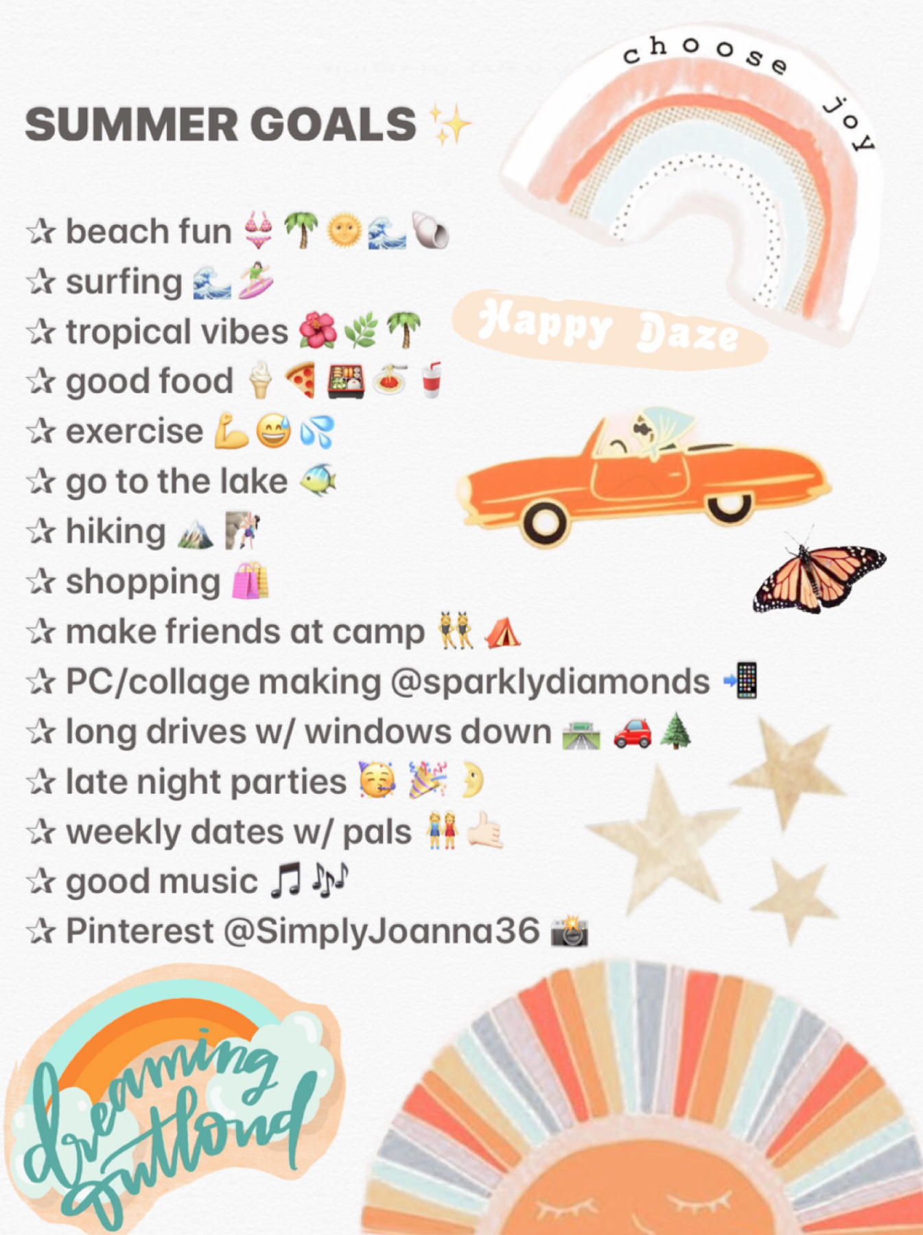 This are my goals for this summer :) I really wish I can do all of these things //