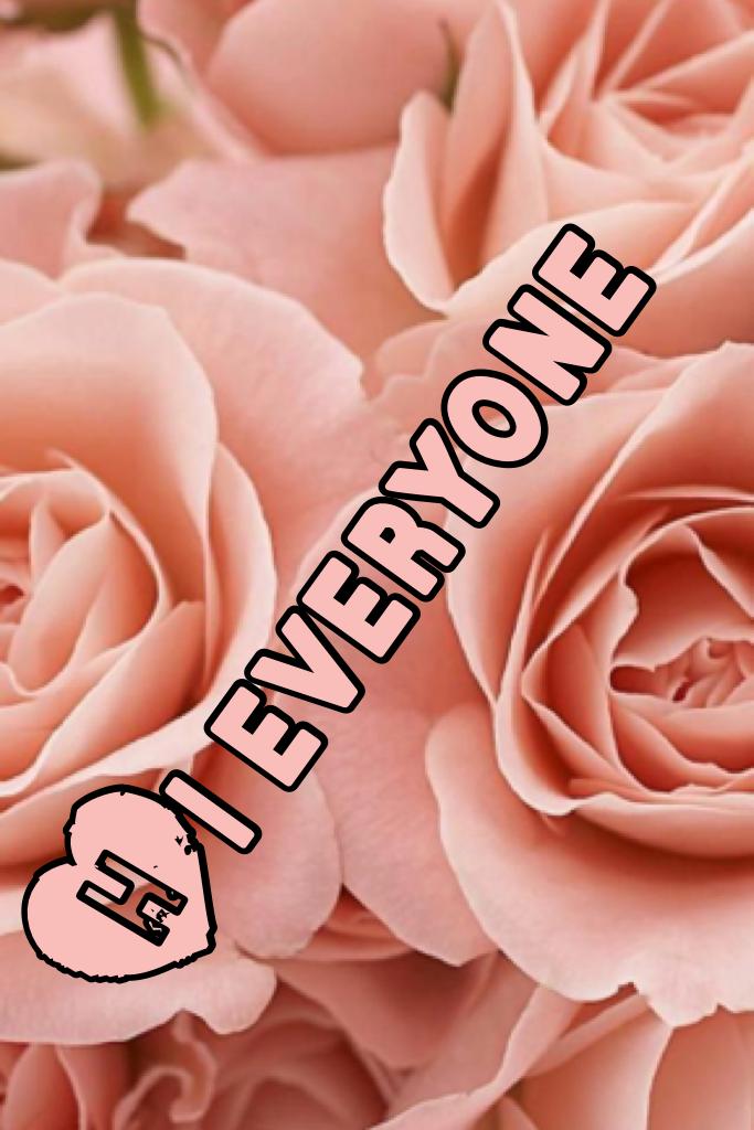 Hi everyone