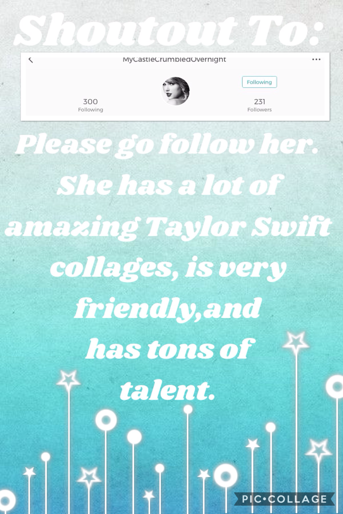 Shoutout to... EverythingCrumbledMyReputation she is so amazing and deserves to have many followers and features.