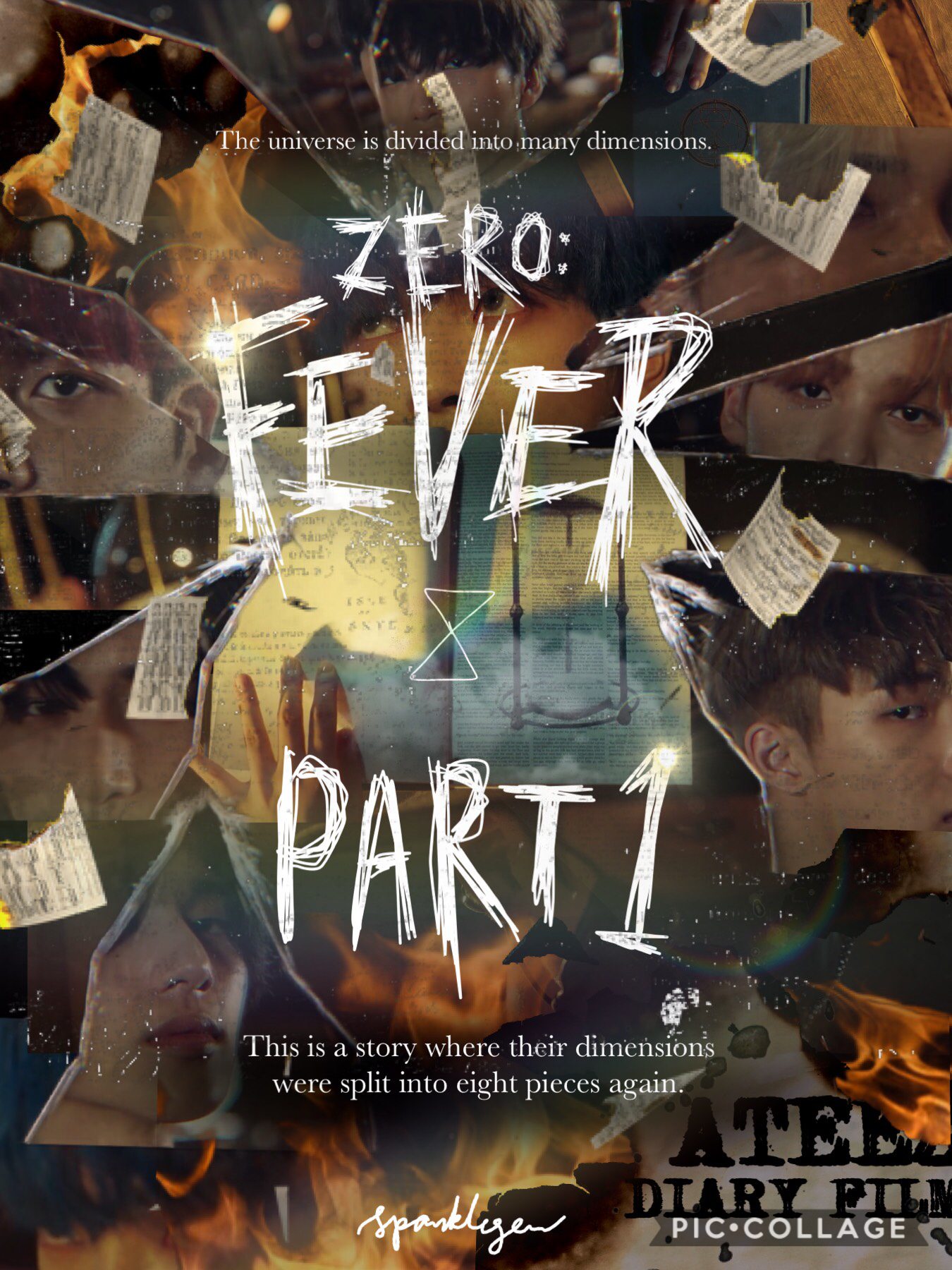 """[1/10] 🖤NEW THEME: ATEEZ's """"ZERO: FEVER PART 1: Diary Film"""" 🖤 I haven't done a theme since literally dec 2017 so i rlly hope i dont regret doing this to myself and i hope this doesn't flop🤡. Anyways enjoy the story (but it's gonna be  confusing haha...)"""