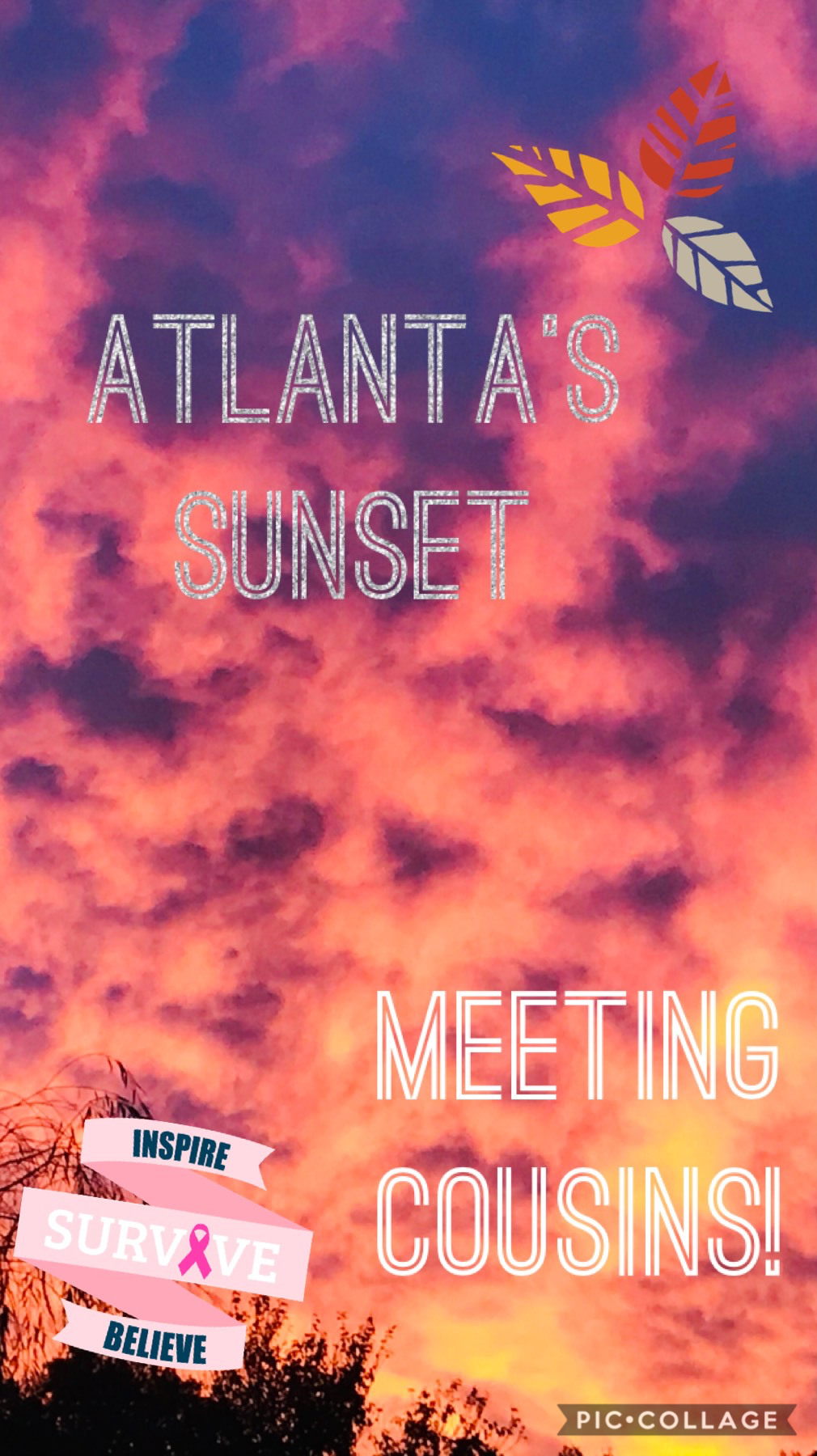 Atlanta's sunset!!