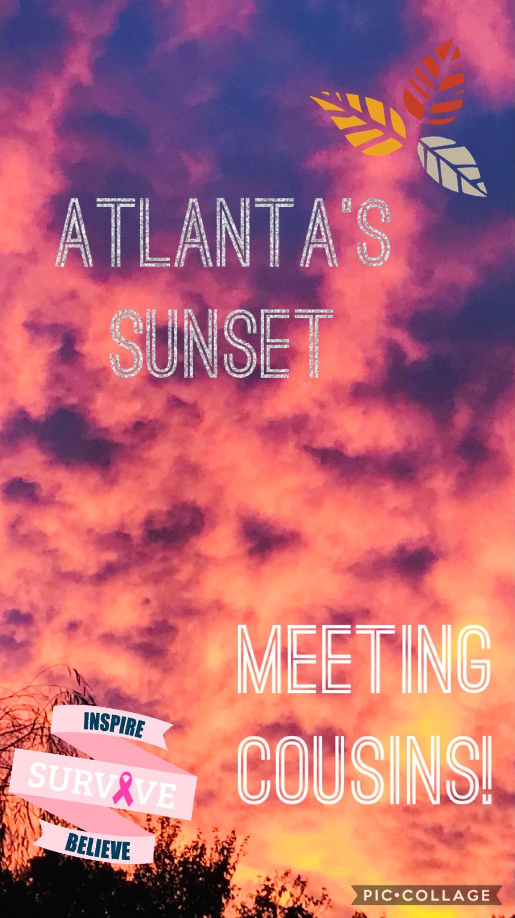 Atlanta's sunset!!