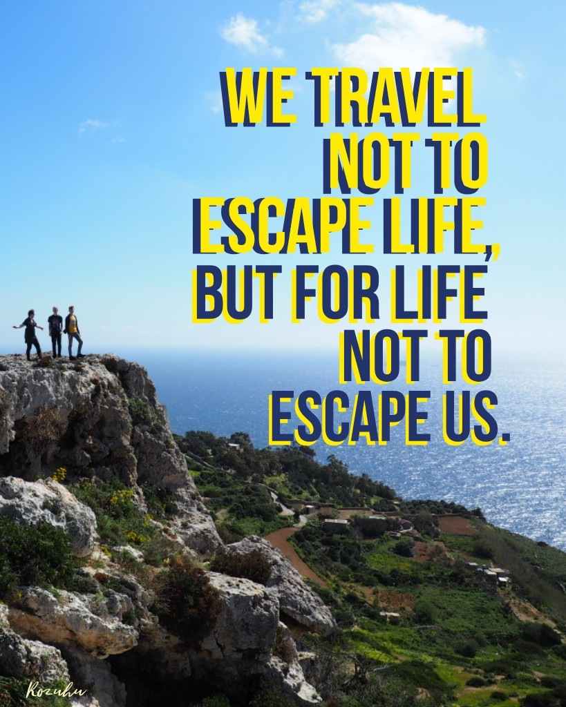Another travel quote and a pic from Dingli cliffs on Malta ✨🥰🌞
