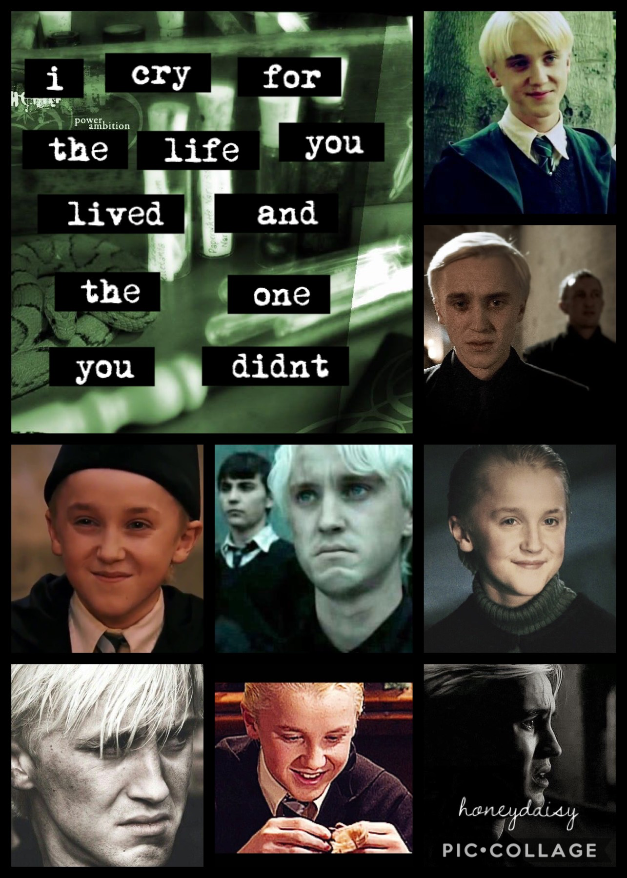 omg draco malfoy is my favorite harry potter character! 💚 who is yours?