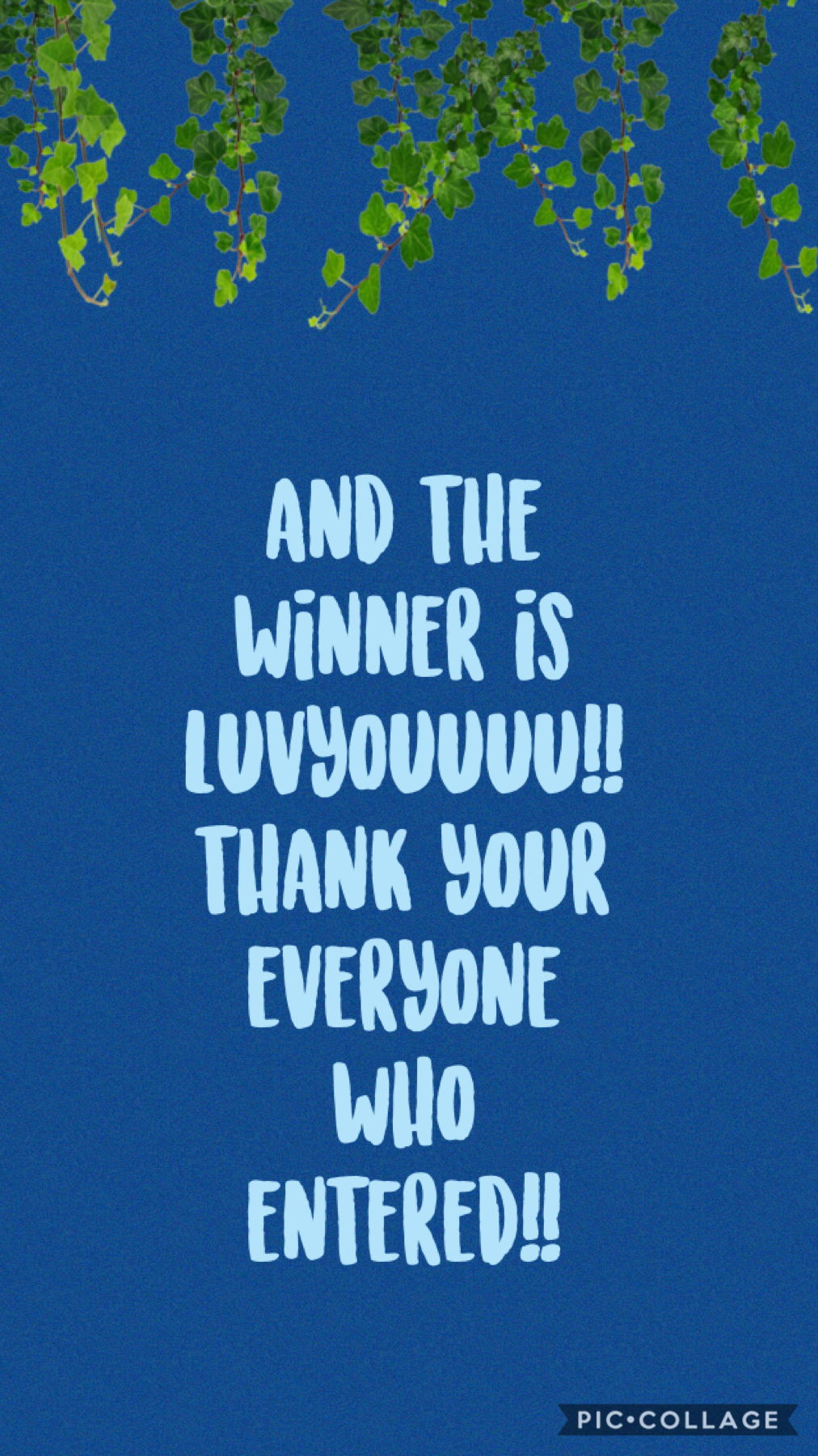 thank you for everyone who entered!!!