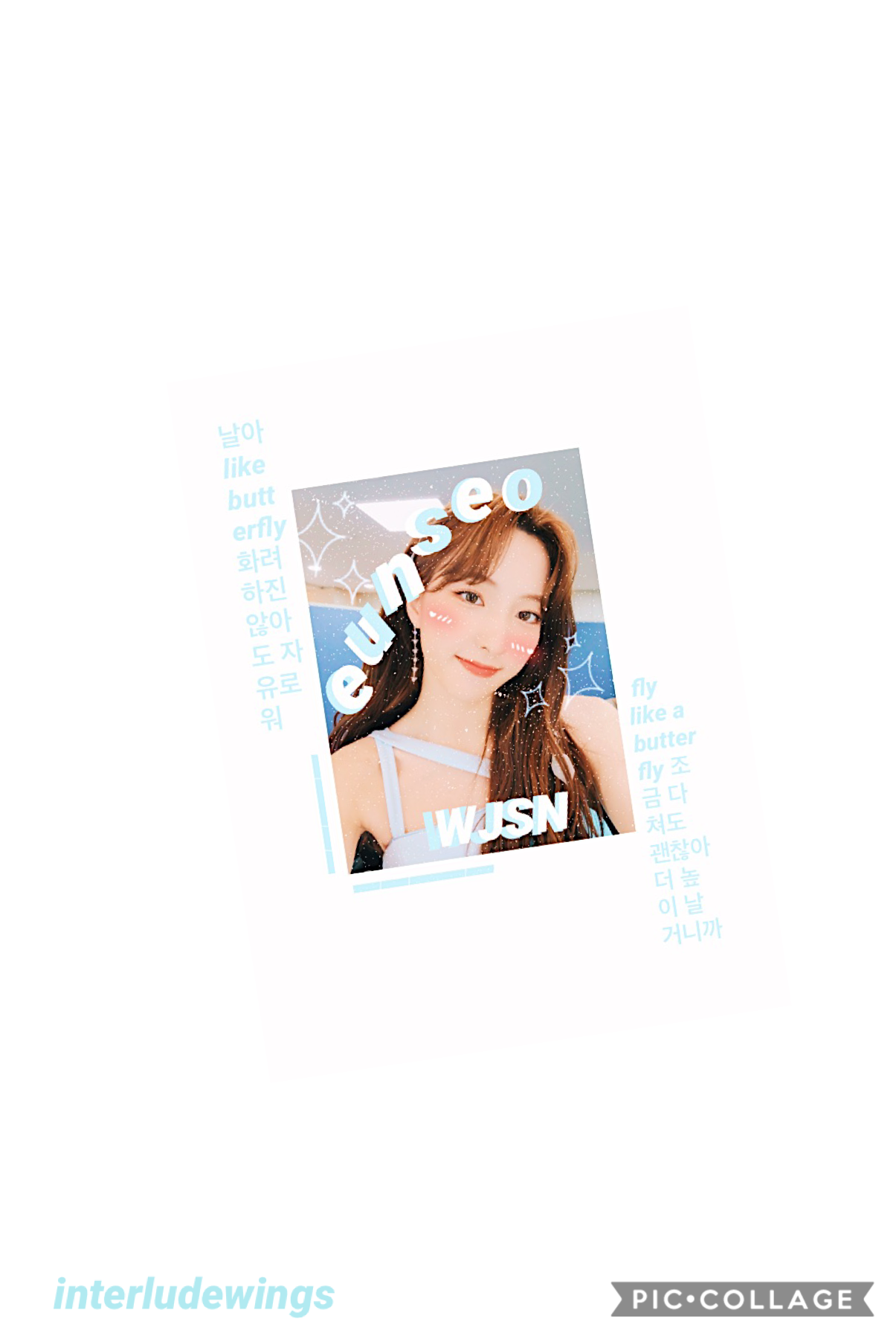 🦋 open 🦋 eunseo~wjsn i actually kind of like how this turned out 😳 if u haven't listened to when's butterfly…then u should bc it slaps 😌