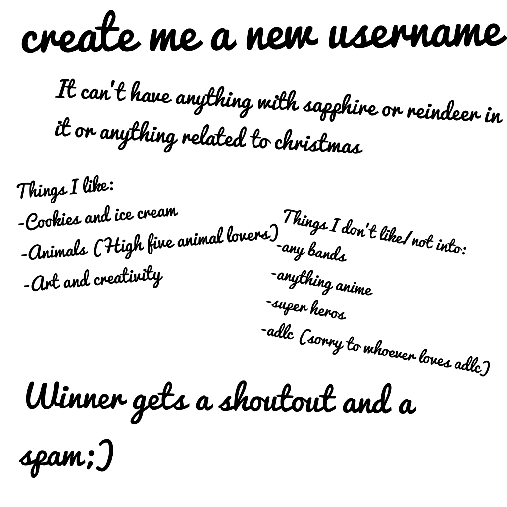 create me a new username! Small contest🤣