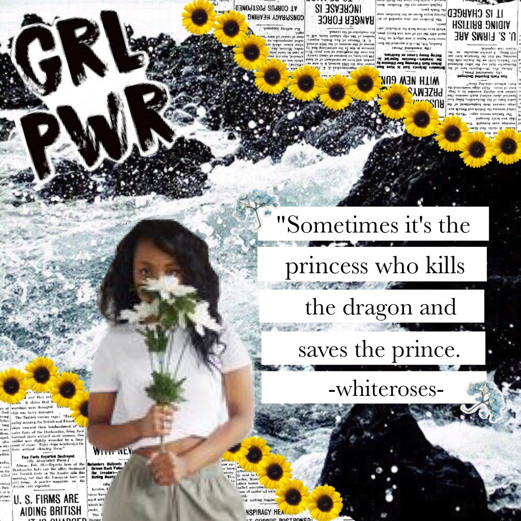 TAP THE GIRL 👱🏻♀️ This collage was inspired by soo many ppl! I rlly like this!  #GirlPower !  Whoever reads this please make a collage about GIRLS and caption it #GirlPower ! 👩🏻🤘🏻💪🏻