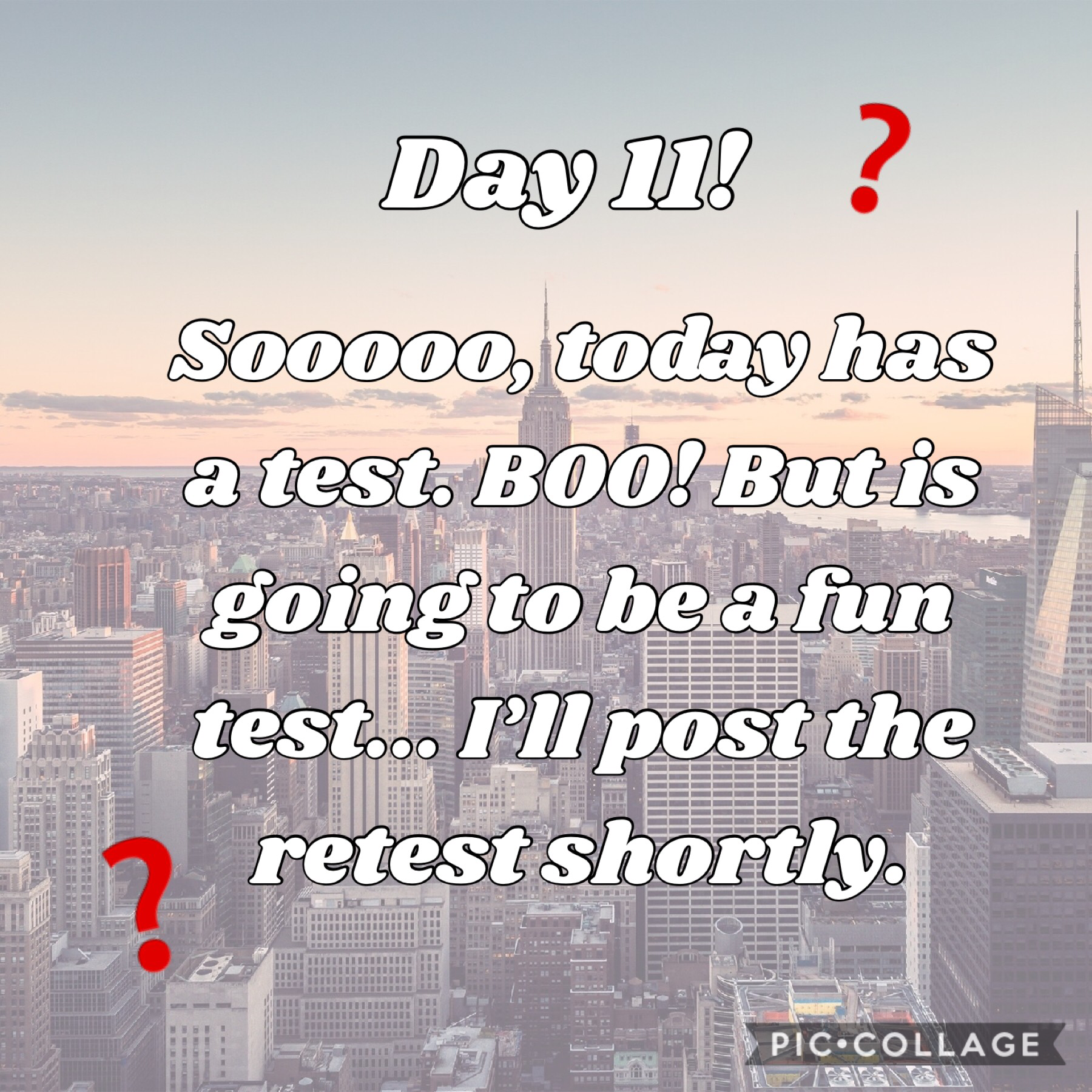 Tap!  Comment of this accounts first post what you think the test should be...