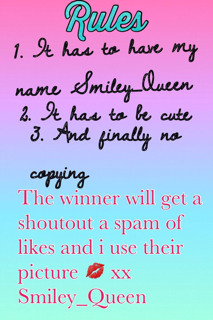 Ily ❤️❤️Contest time xx
