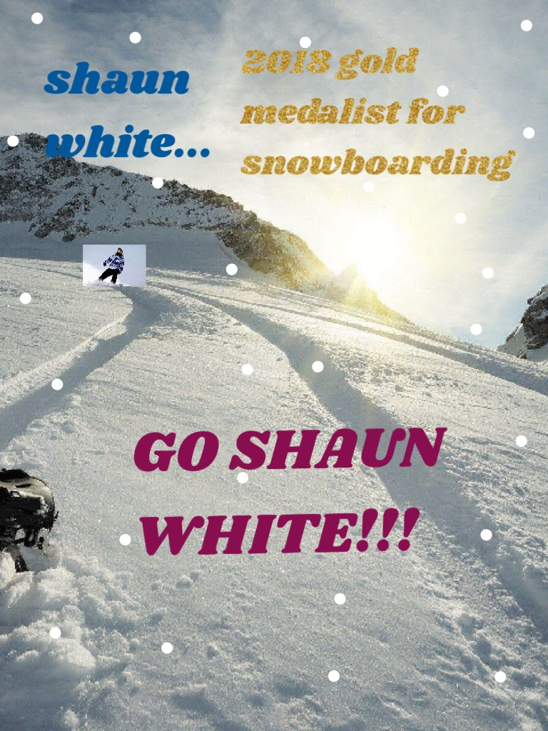 have you guys watched the winter olympics 2018 yet? i did (i only watched my favorite shaun white). he's sooooo good!  if you watched the winter olympics, comment your favorite sport from there and who your favorite medalist was!