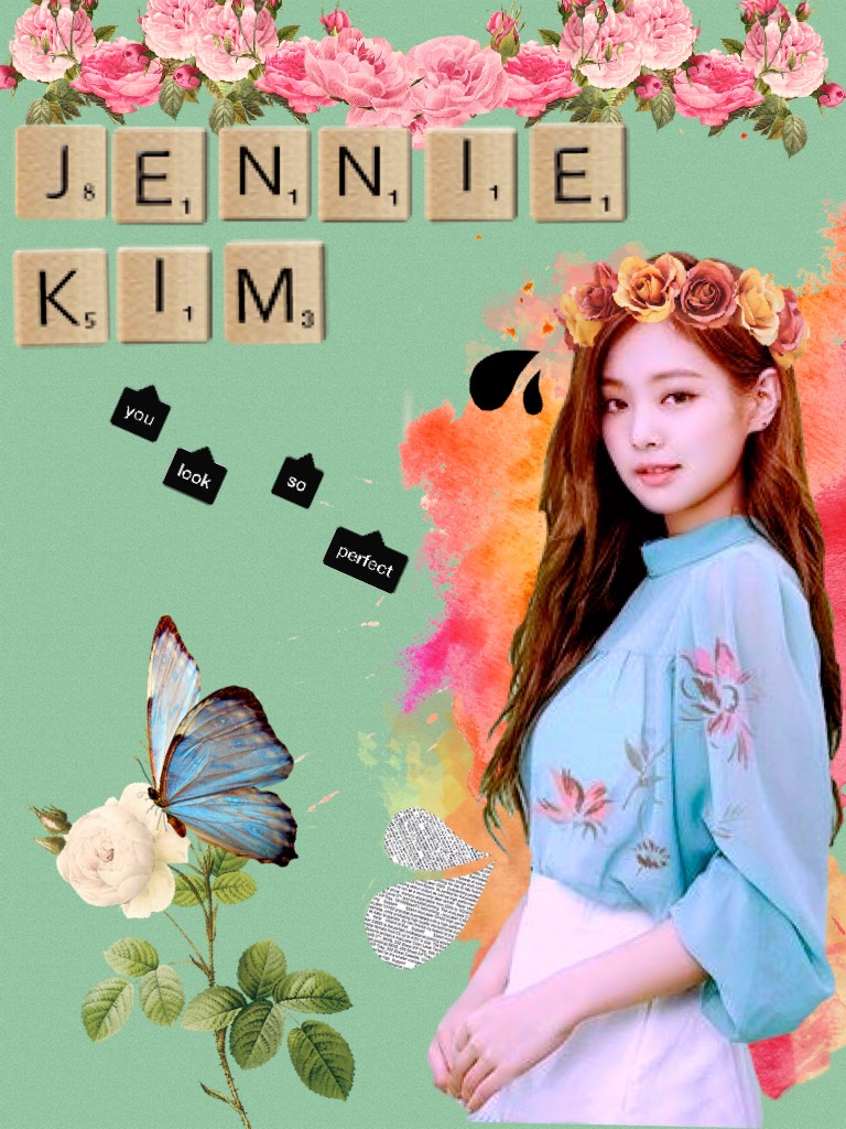 Ok so this is not my first PicCollage but it's my first post. Anyways, this is Jennie Kim from Blackpink