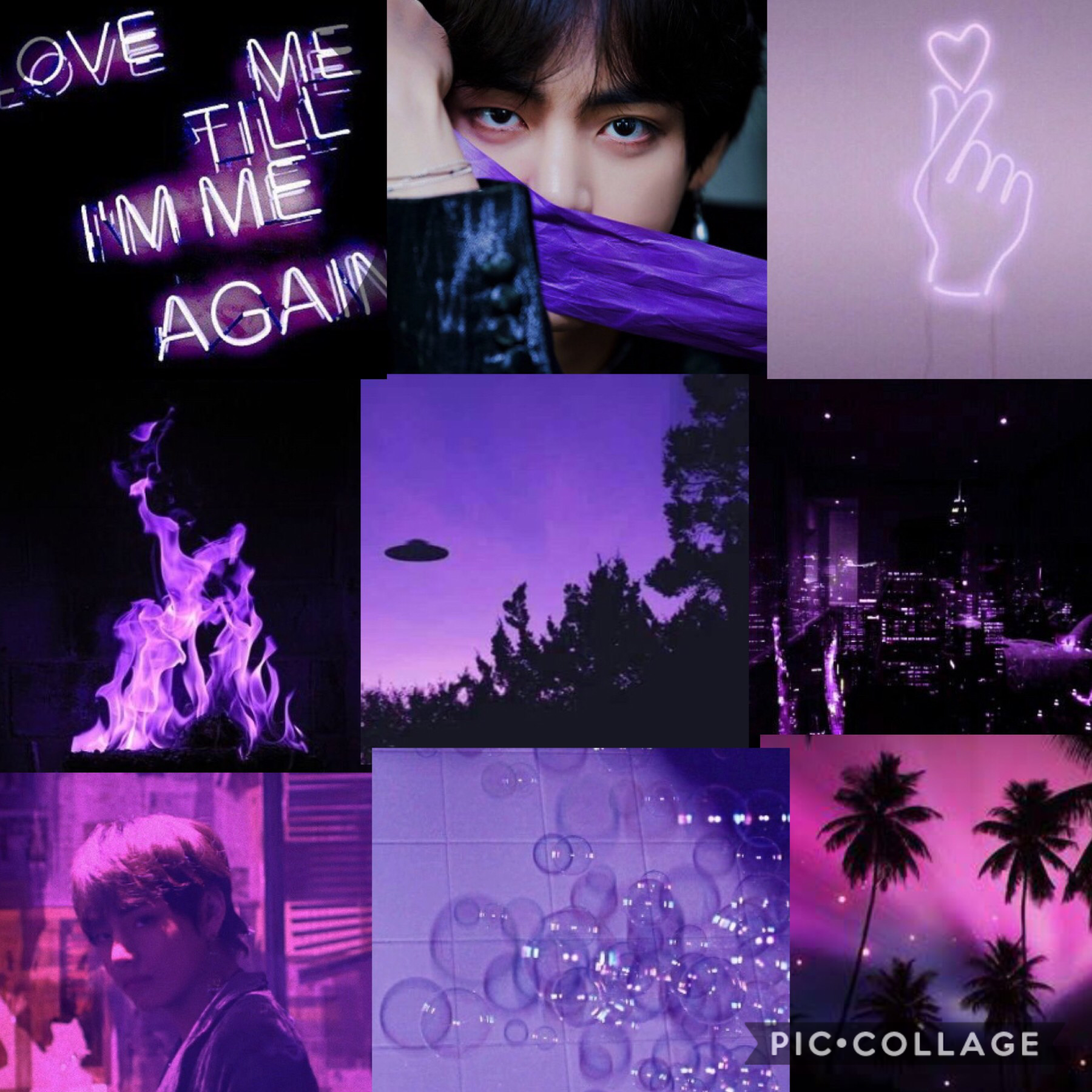 💜tap💜 I made this imperfect because that's what we are. Humans are imperfect, the world is imperfect, but we are beautiful. Like this collage. Hopefully.