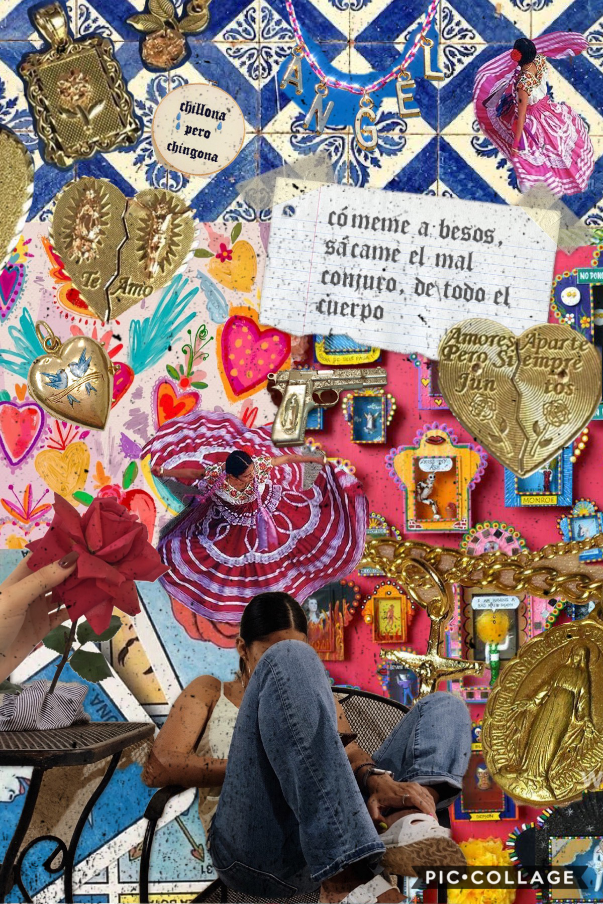 "definitivamente no hago suficientes posts en español 🙂🤦🏽♀️ pero no se preocupen, que por ahí lo arreglo ☺️😂 lyrics from ""monstruo"" by cami, in case you wanna give those Chilean vibes a listen 🇨🇱🤩 also remember to unclench your jaw 😌😉"
