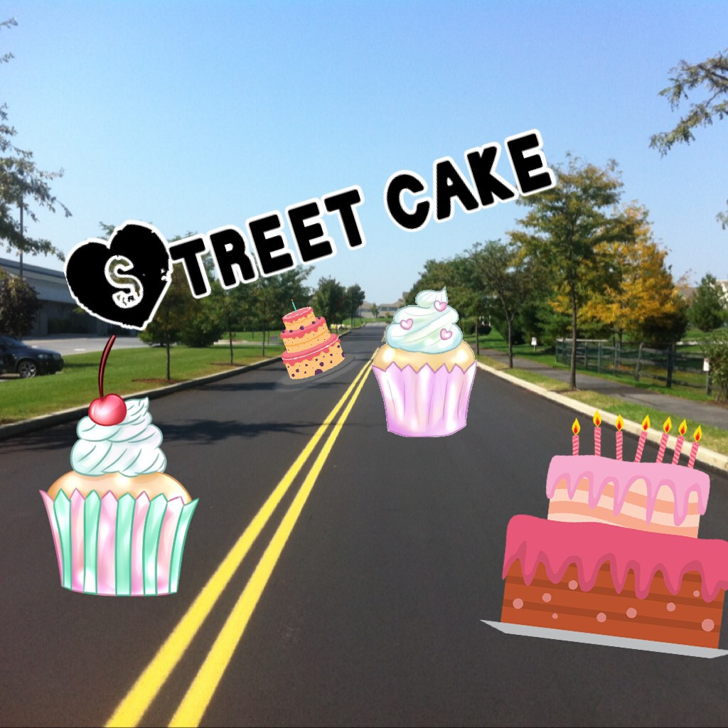 Street cake! FOLLOW to be a street cake FAM! 🎂