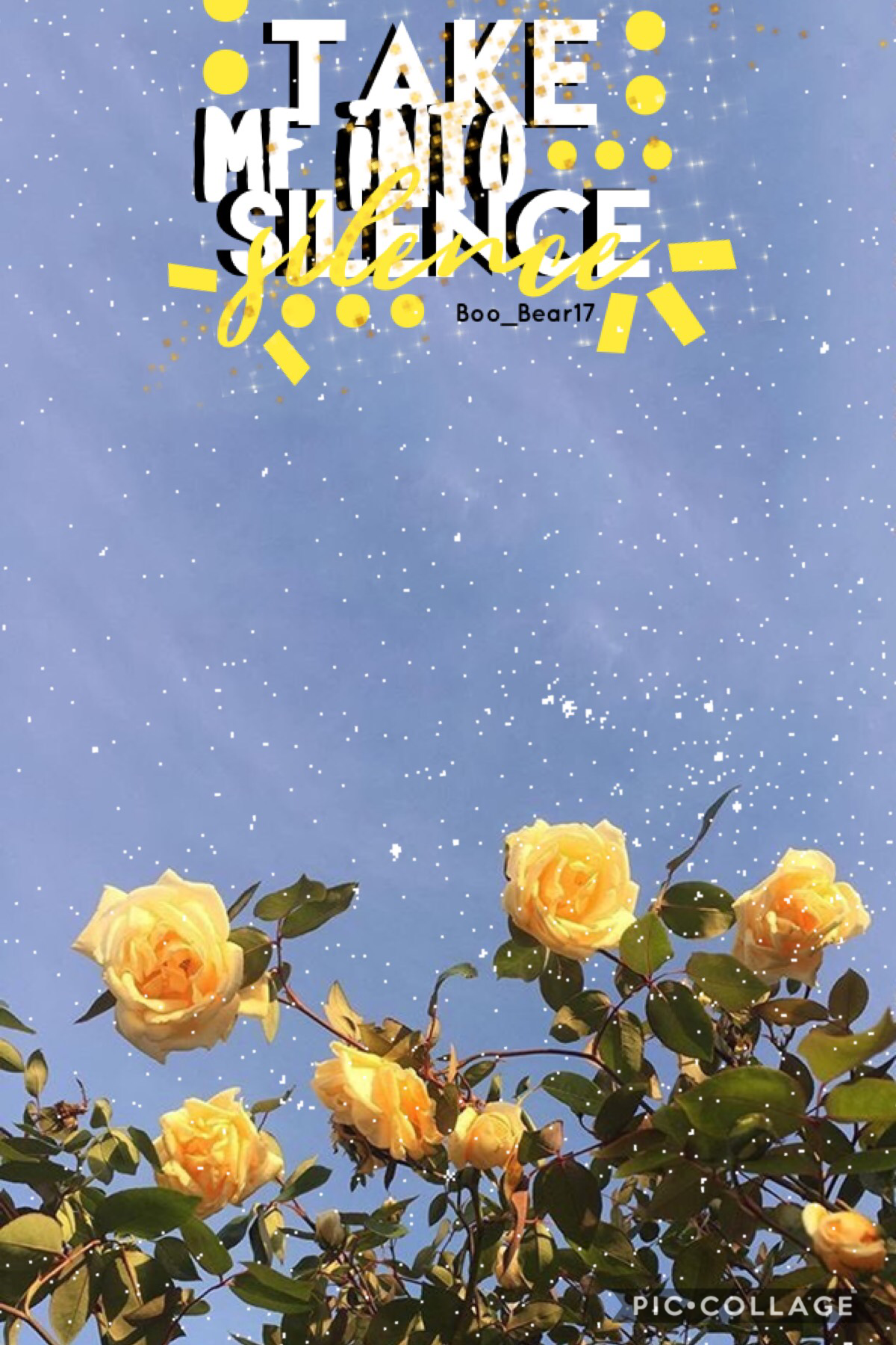 💛take me into silence💛 •I went to a band thug yesterday and the guest director who worked with us said this, and it stuck •song rec: GONE by Paris and Trippie Redd