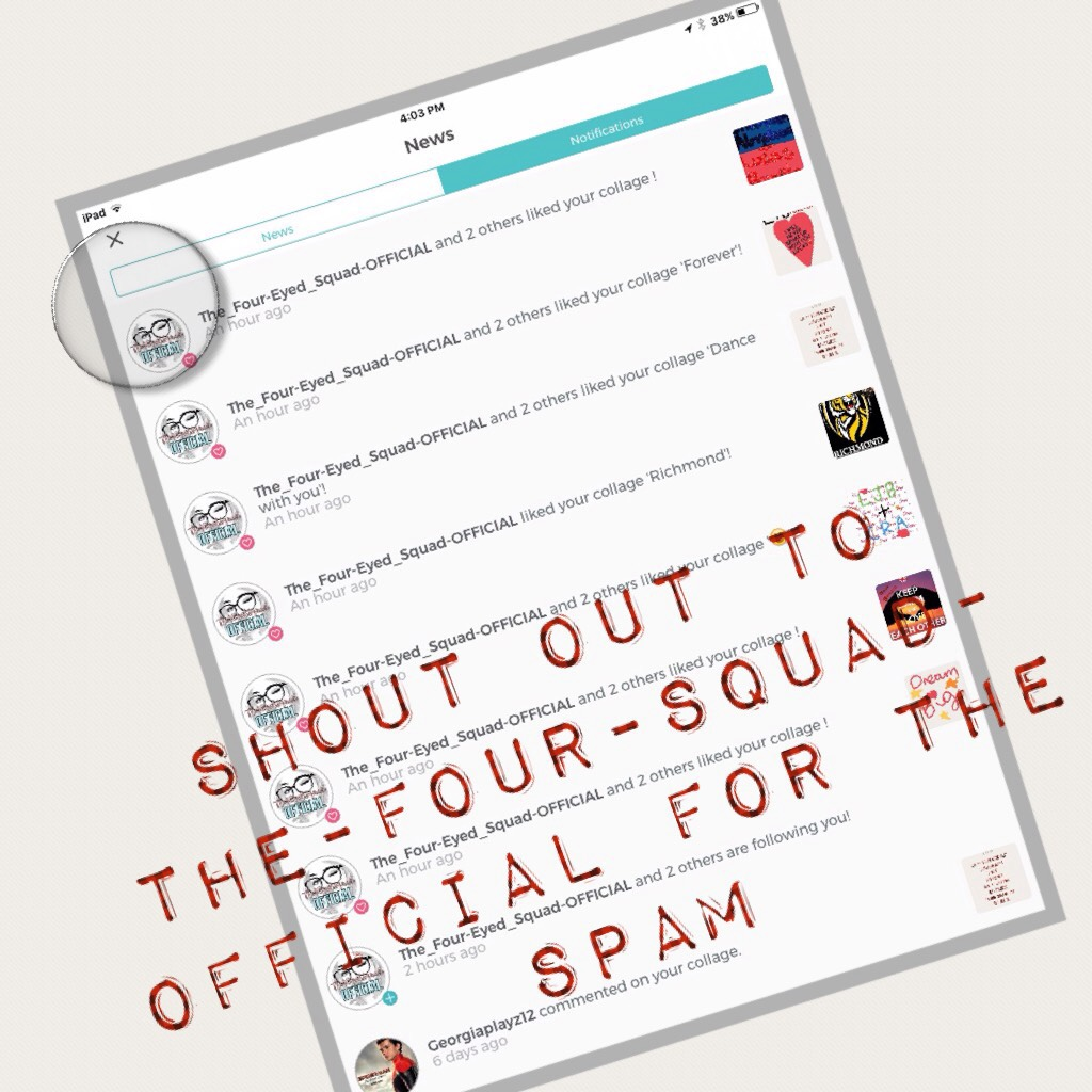 Shout out to The-Four-Squad-Official for the spam