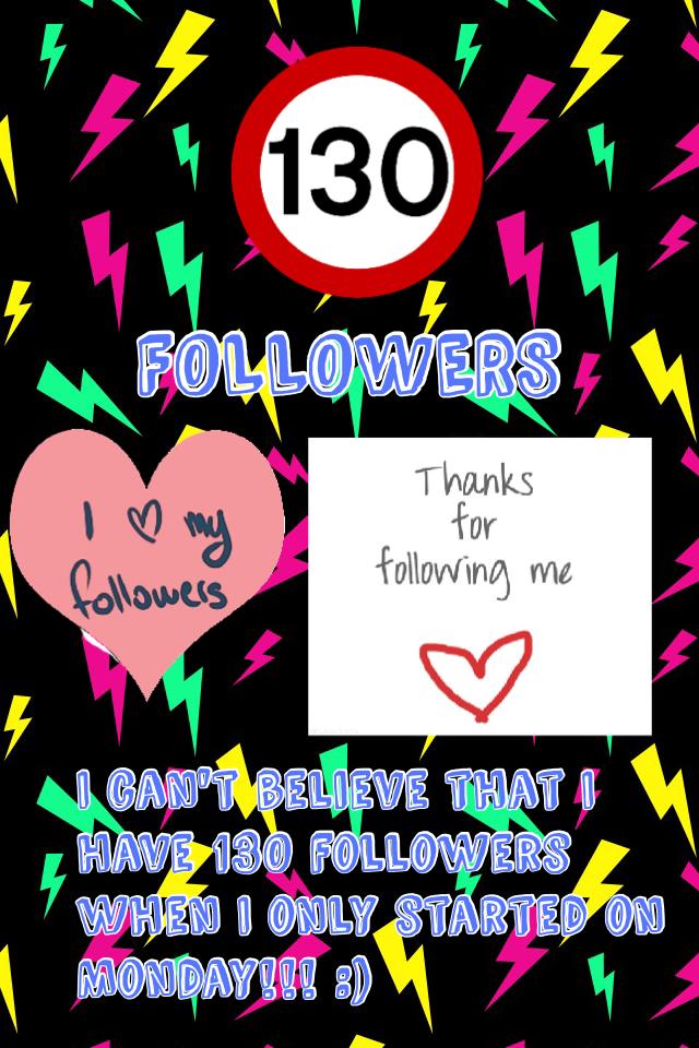130 followers celebration!!!!! :)