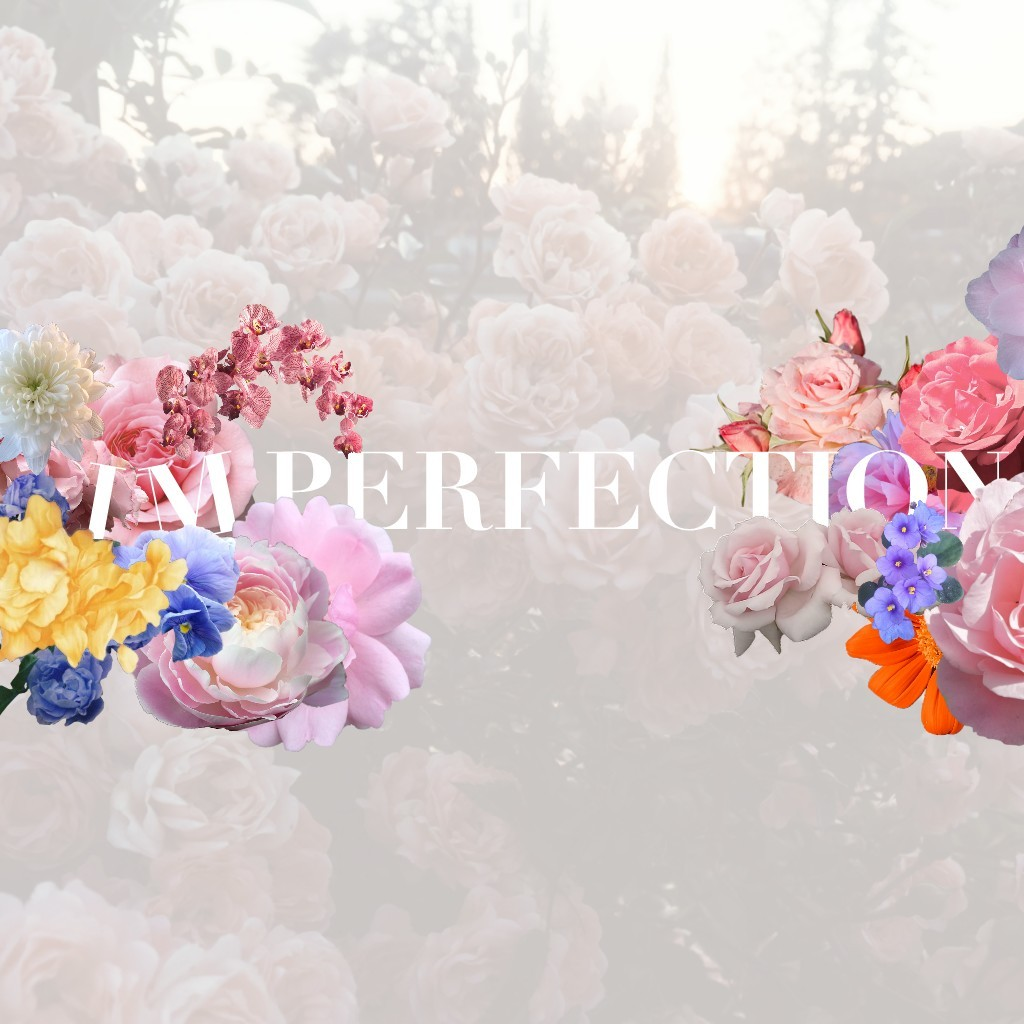 Hi! The quote is supposed to say imperfection, not I'm Perfection lol