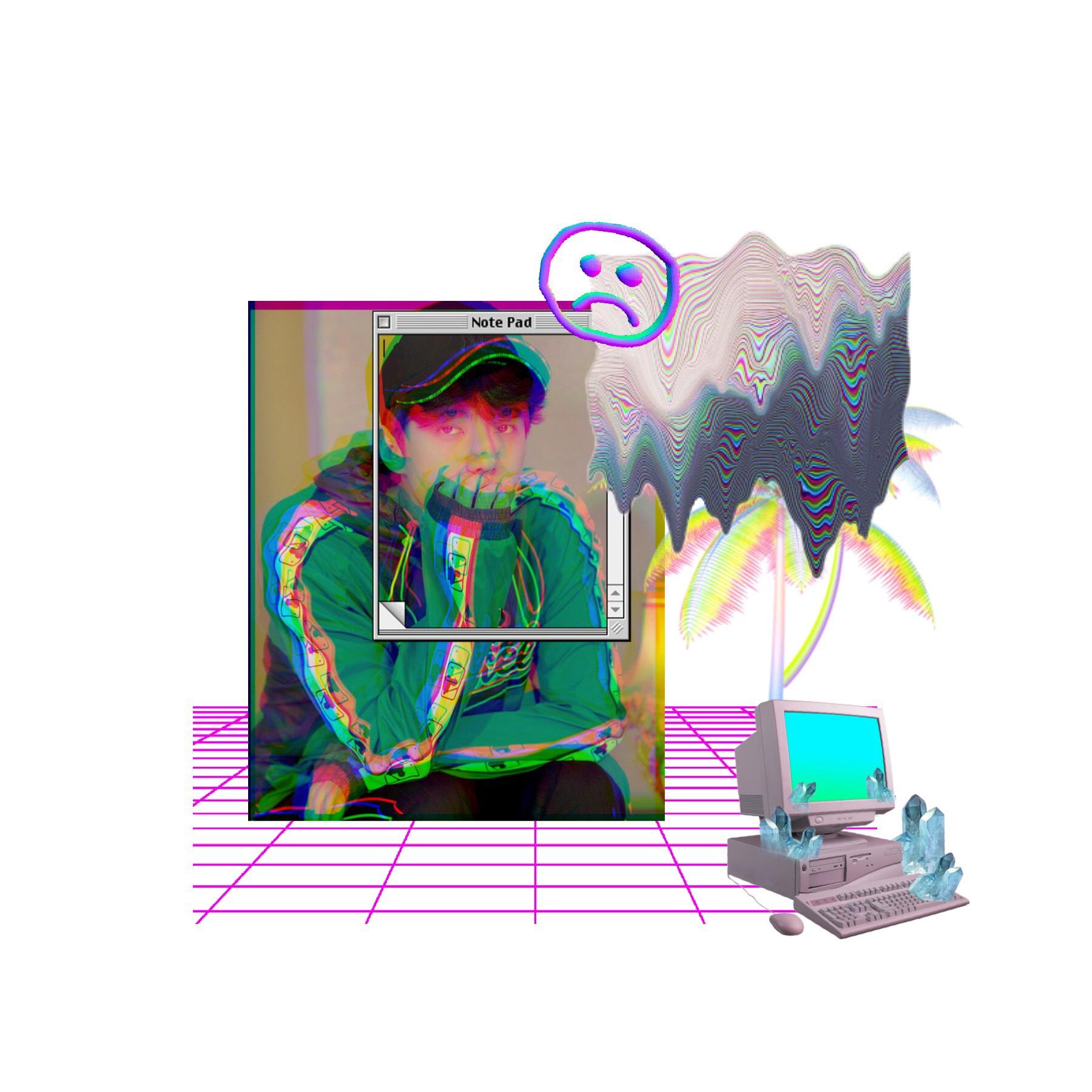 vaporwave sehun 🧷💜📗🐥