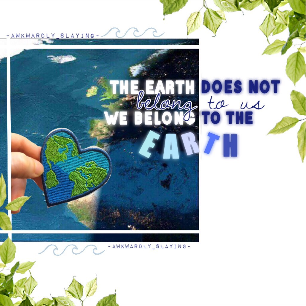 Contest entry to piccollage's earth day contest! ❤️🌏 i will remix the mini contest for this earth day! All you have to do is like my latest remix and won different prizes! ❤️ please check out the comments! Thanks 😊