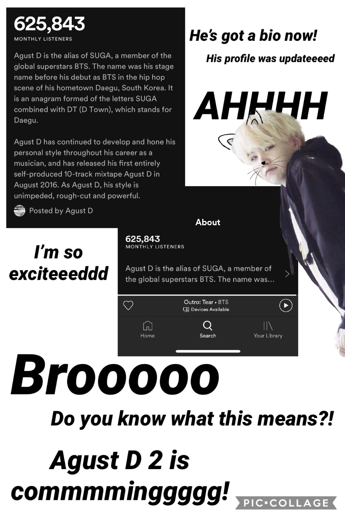 Agust D stans where y'all at?   🙌🏻🙌🏻🙌🏻🙌🏻🙌🏻🙌🏻🙌🏻   I literally saw this and started screaaaamingg I'm so excited ahhhhh   I can't waiiiittttt 🙌🏻🙌🏻🙌🏻