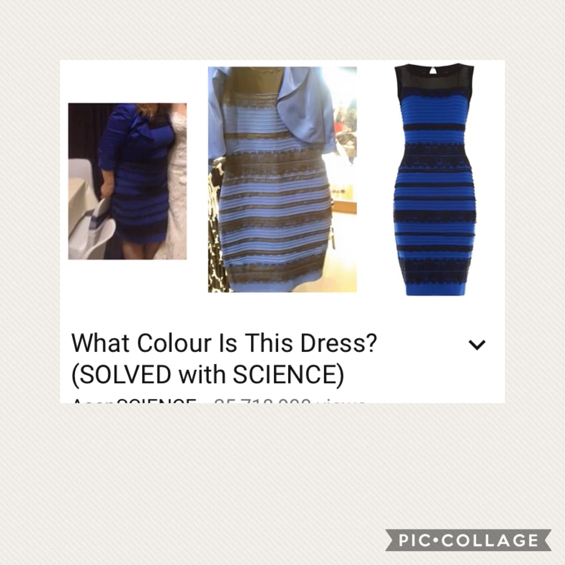 IT IS BLUE AND BLACK!!!