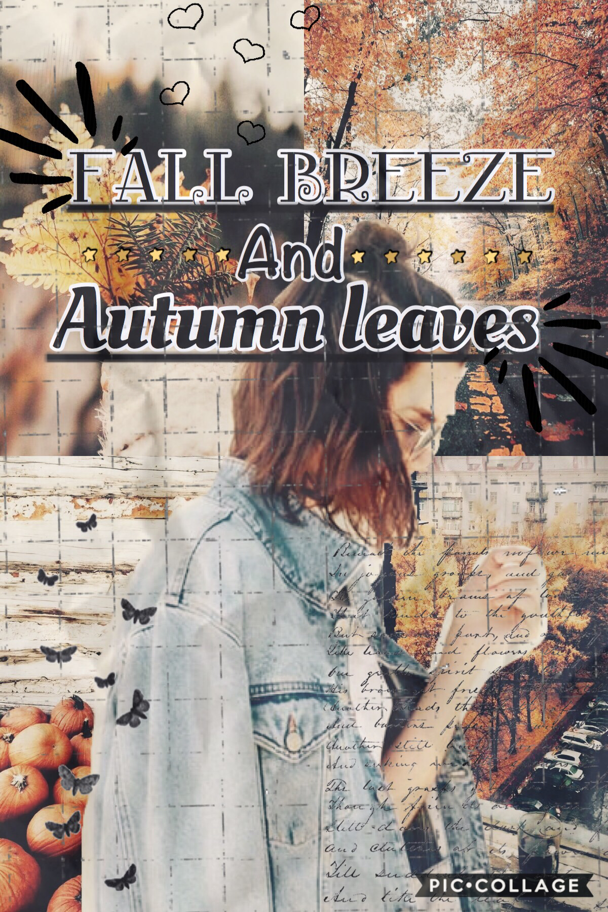 Ok this is really bad but I wanted to post a fall themed collage🍂soooo here it is...😬tell me what you think!!❤️