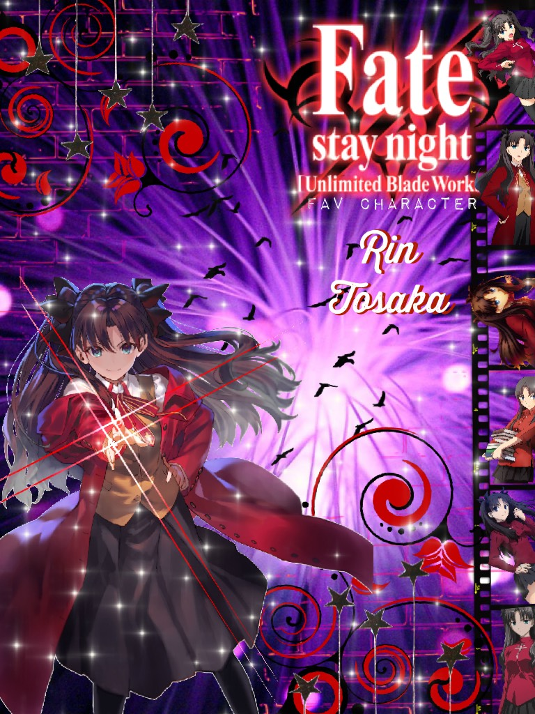 Fav character series: Fate/Stay night (unlimited blade works) - Rin Tosaka