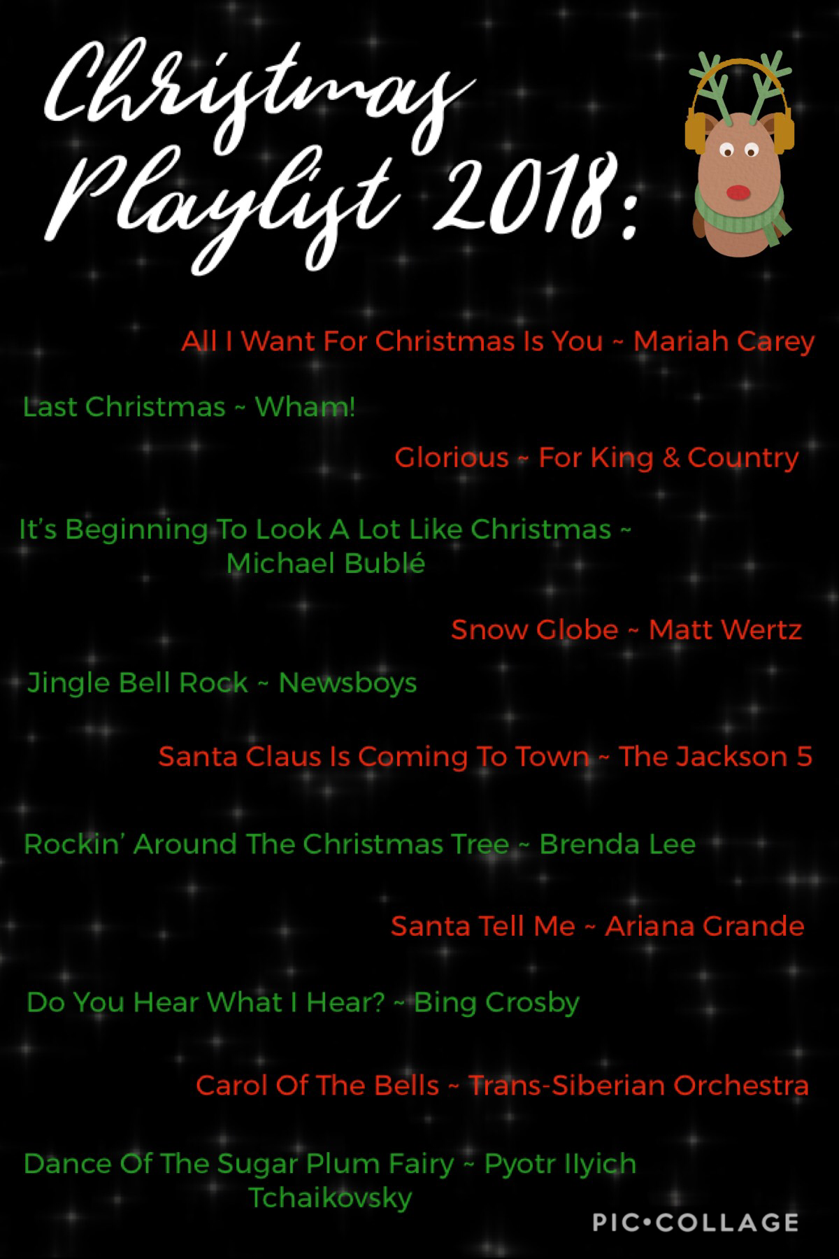 I've had most of these songs on repeat this month, so I thought I'd share them since I didn't post a playlist last year! 🎧 🦌 🗓 I would've posted it sooner but I've been pretty busy, I'm trying to enjoy Christmas irl even tho I'd love to catch up here... 🎄