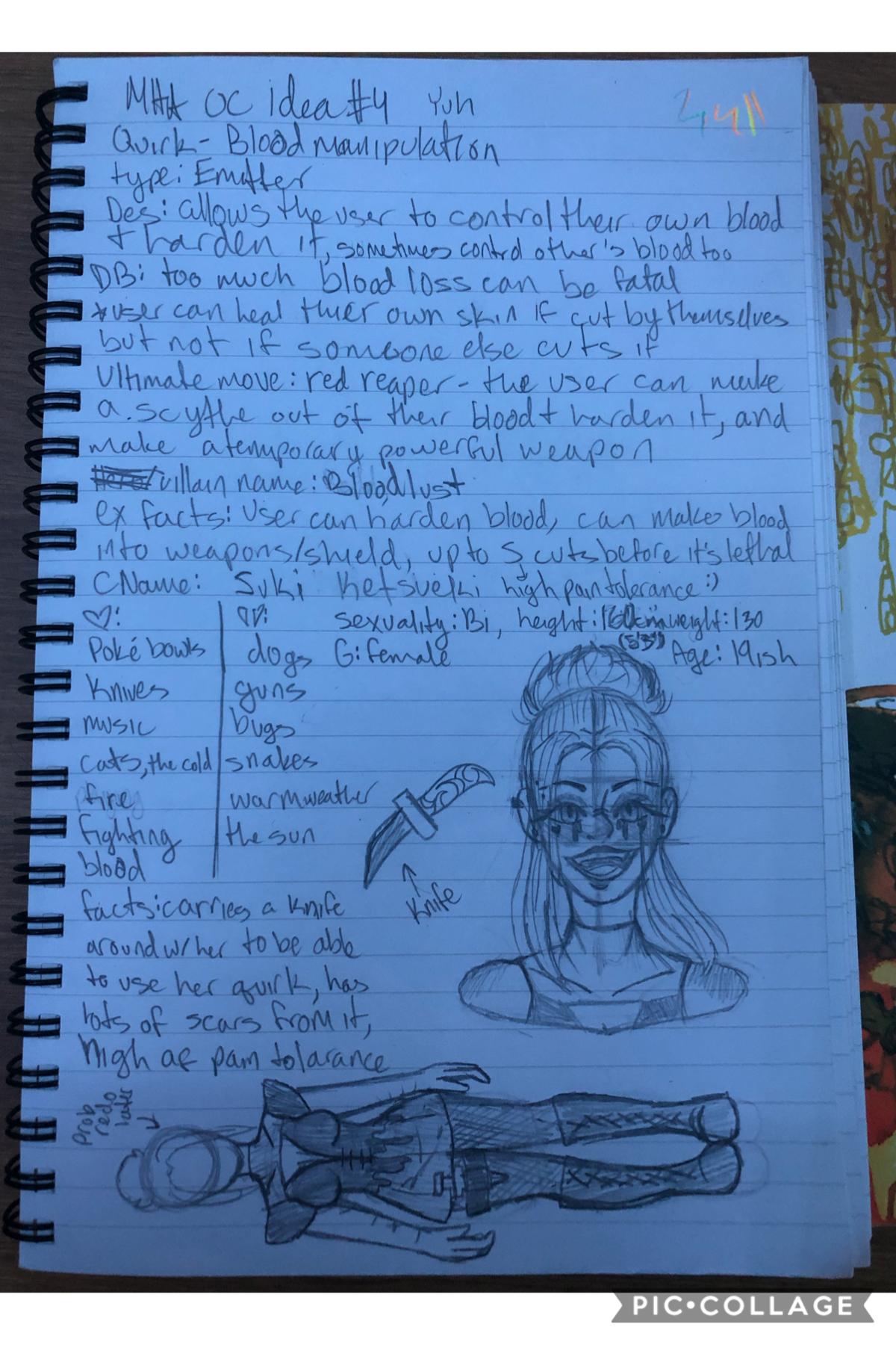 Oh here's the original sketch design for Suki lol