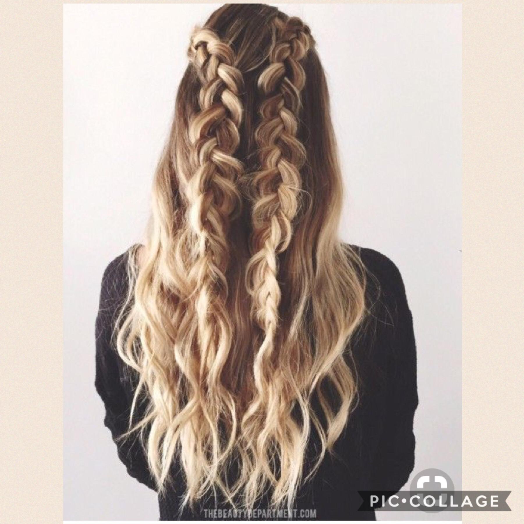 Adorable hair style💜