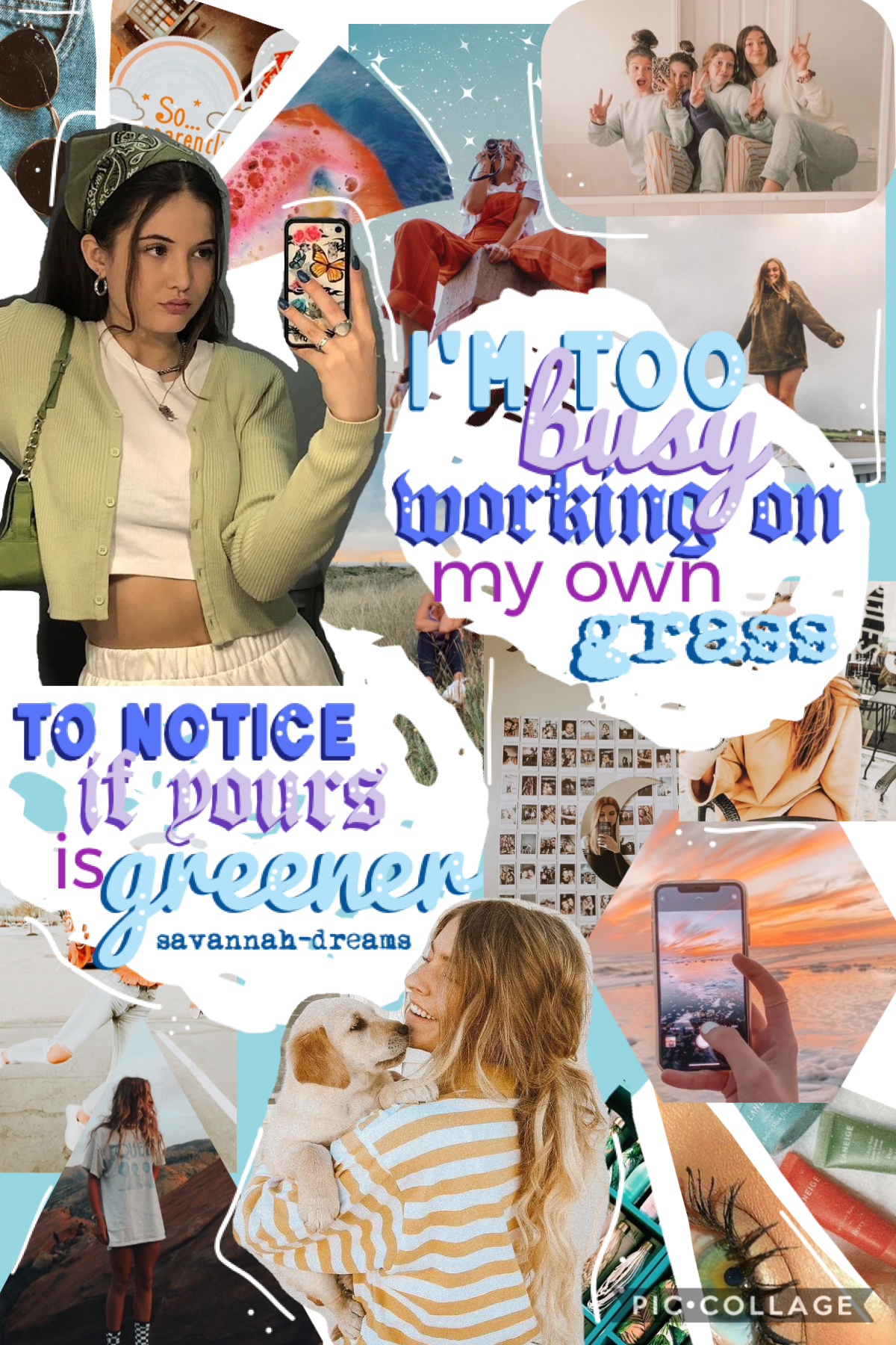 hey everyone 🧚🏼♀️ this collage is based on an old one of mine 🌈 totally loving this rn, what do you guys think? ✌🏼 poll in bio- please check it out 🦩🦩 caption continued in comments...