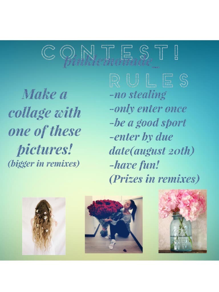 First contest, good luck!(prizes in remixes!)