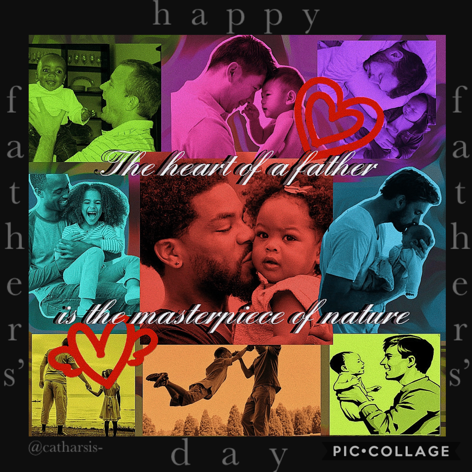✨tap✨happy father's day~   ik it's pretty simple but whatever🤡 entered this in @piccollage's contest🧡  what have u gorgeous people been up tooooo🤪 talk to me🤸🏾♀️