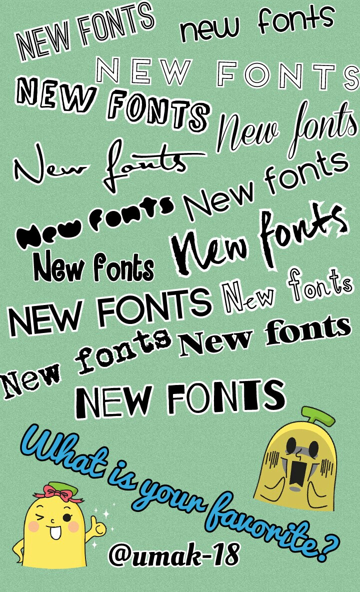 These fonts came out a long time ago but I didn't know they were available for Android!!!