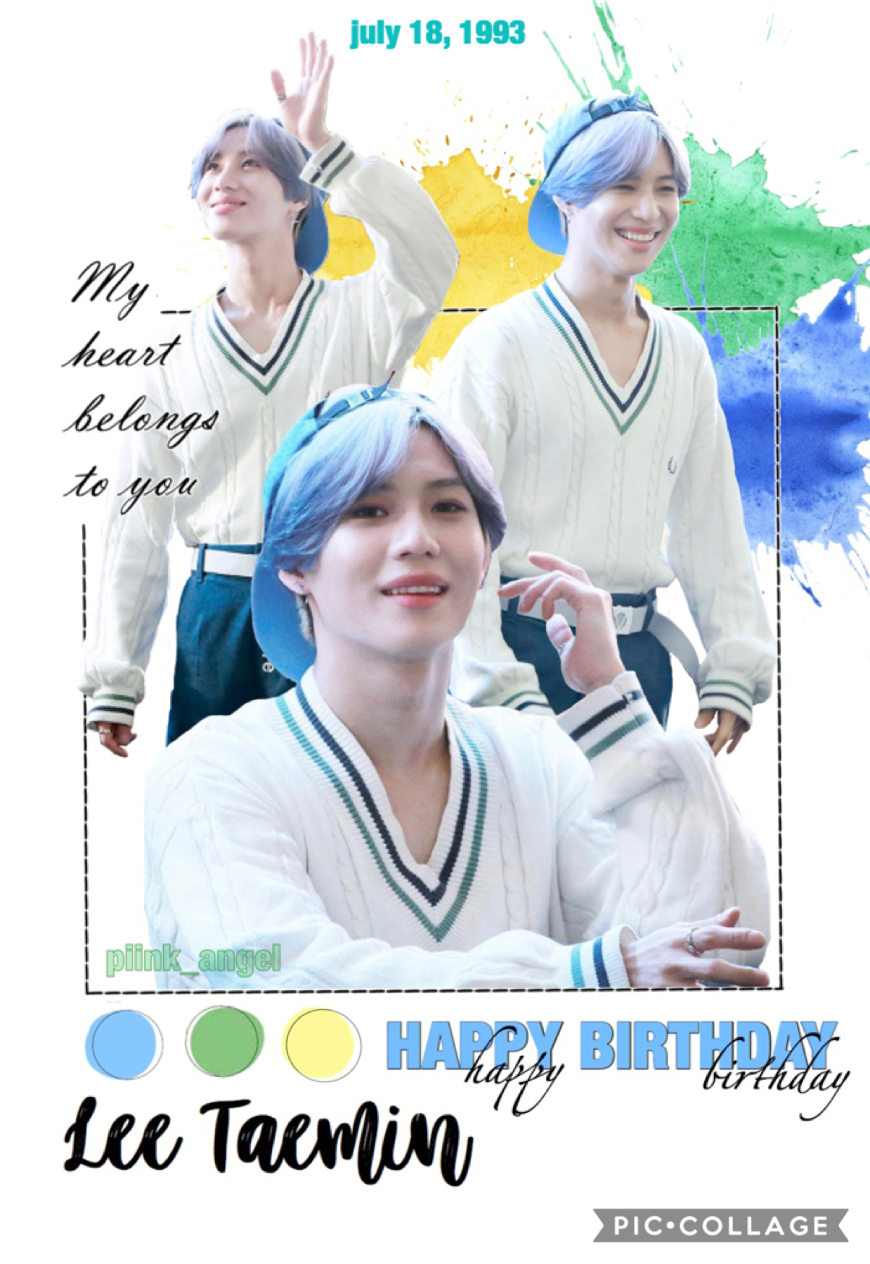TAP 🍓 I was trying to complete another edit before i posted this one, but I didn't like it and started over too much 😪 Happy Birthday Taemin!!!  I hope you're all having a great day, are staying safe, and are happy! 🍃🌺
