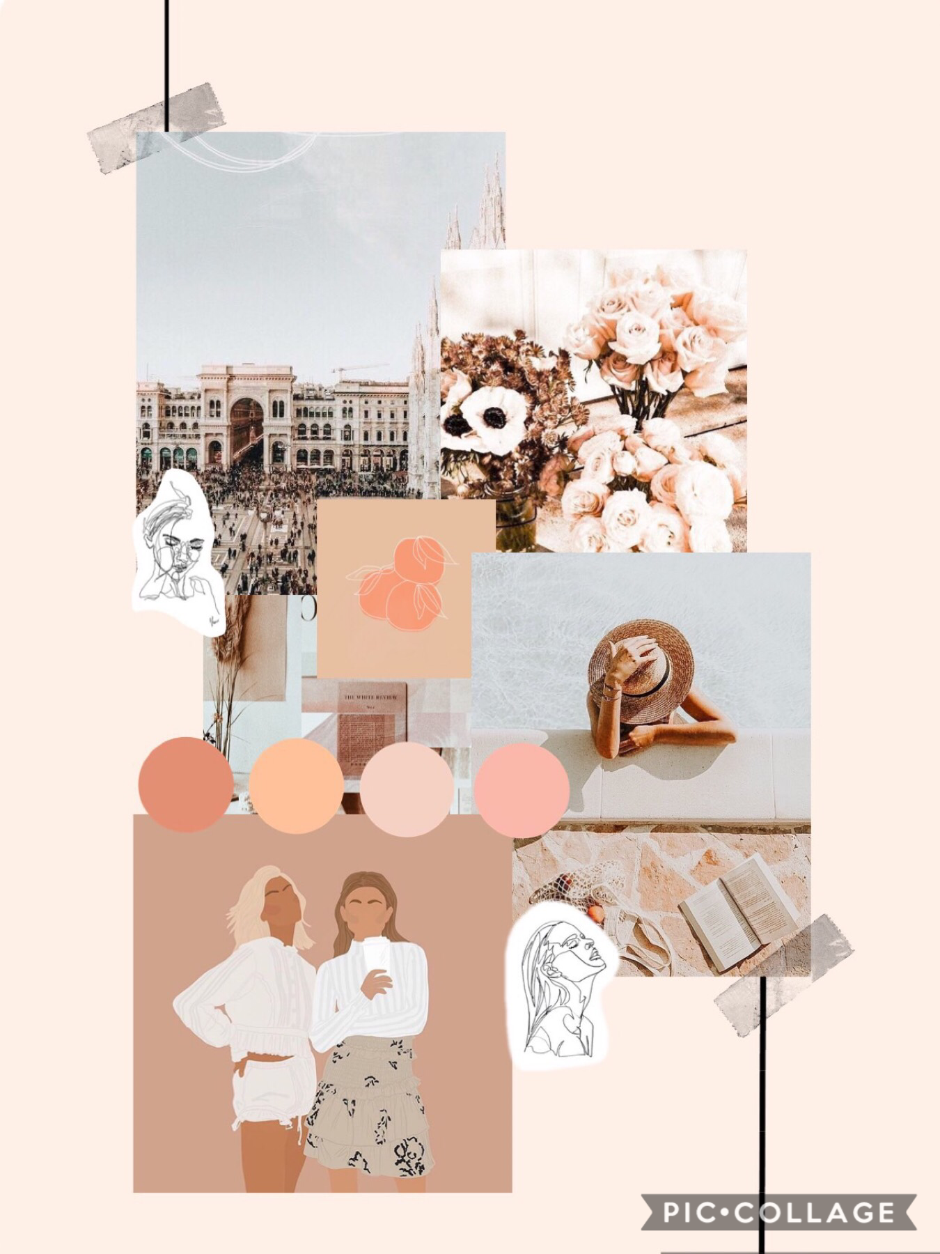 Tapppp ☼  Hey guy's Hope you like this collage. It is based on my aesthetic, I love peachy pinks and greys. Pls like and comment, thx ❥❥