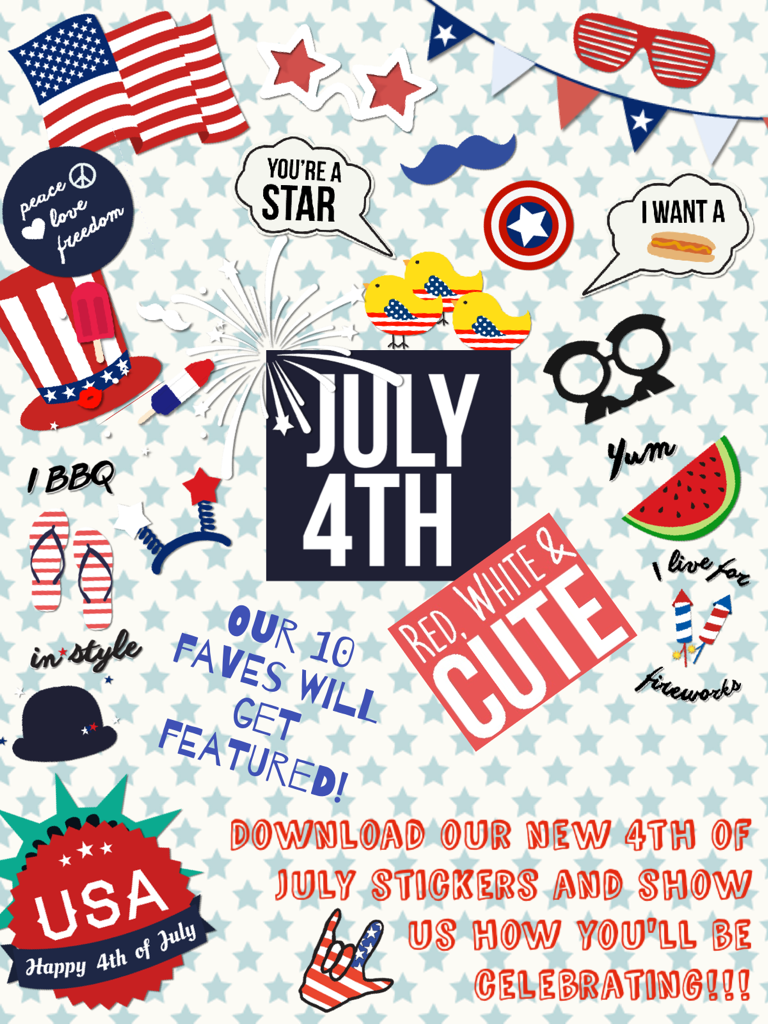 Download our new 4th of July stickers and show us how you'll be celebrating!!!