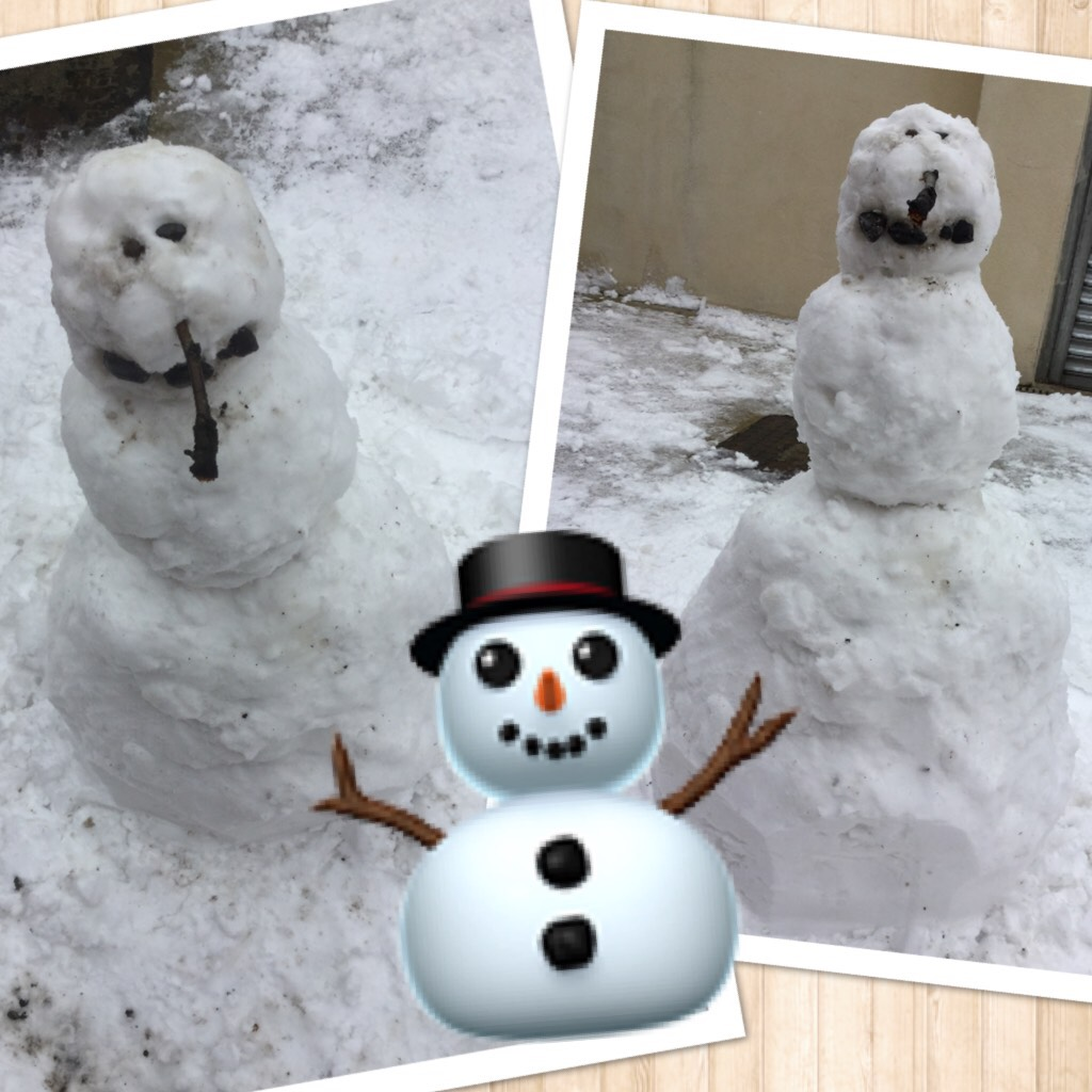 When u build ur own snowman ⛄️  Comment if u have made a snow man