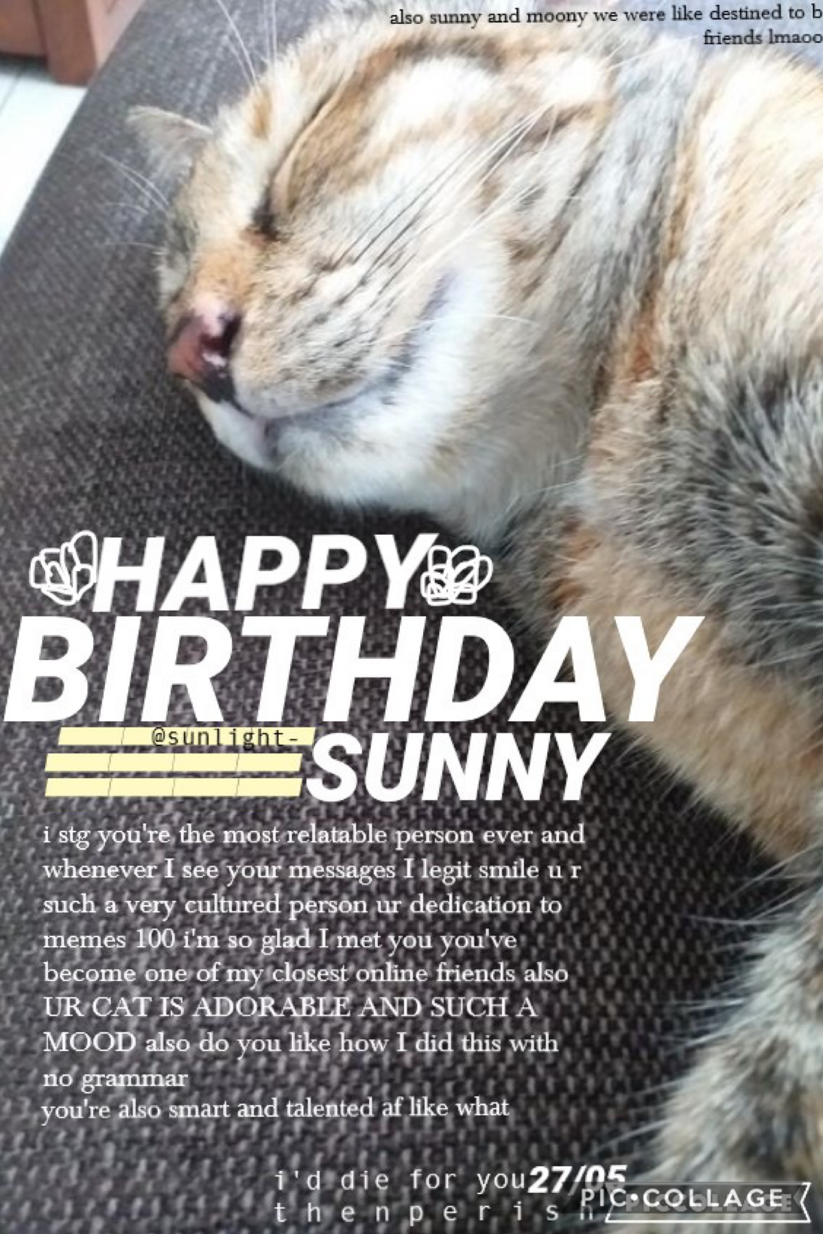 HAPPY BIRTHDAY @SUNLIGHT- 🥳🤩🤪🥰👏🙌💛