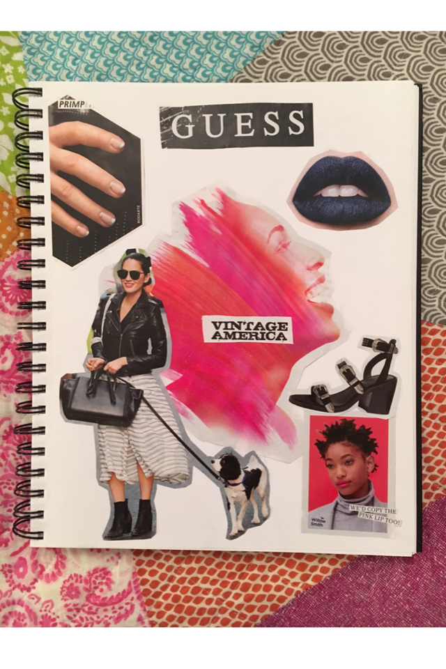 ✨Tried making a collage of magazine clippings only✨...What do you guys think?💦🌙💕
