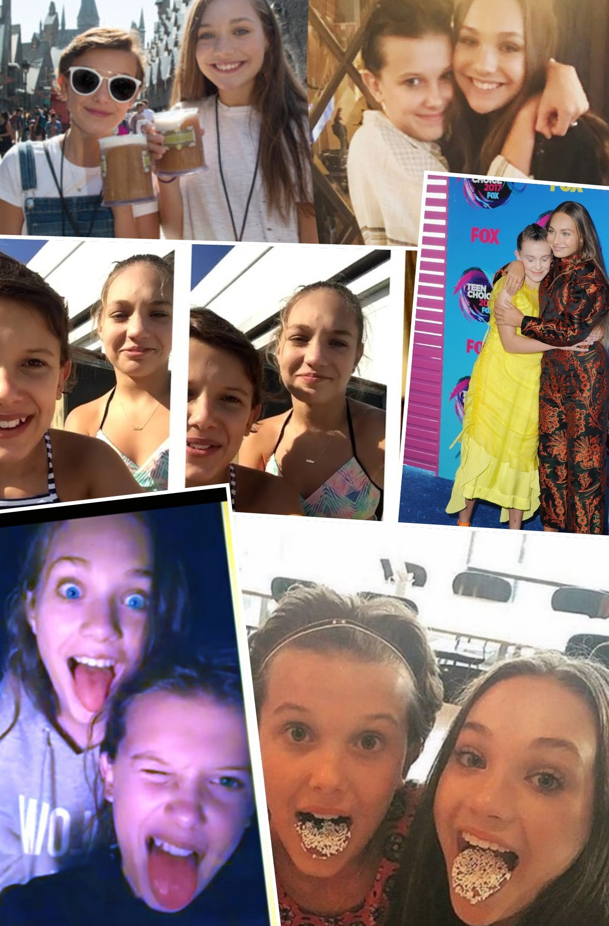 millie Bobby Brown and Maddie zenglier