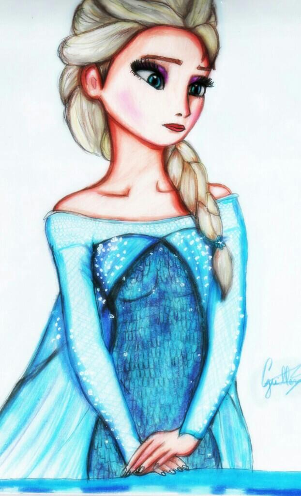 Холодное сердце картинки для срисовки цветные
